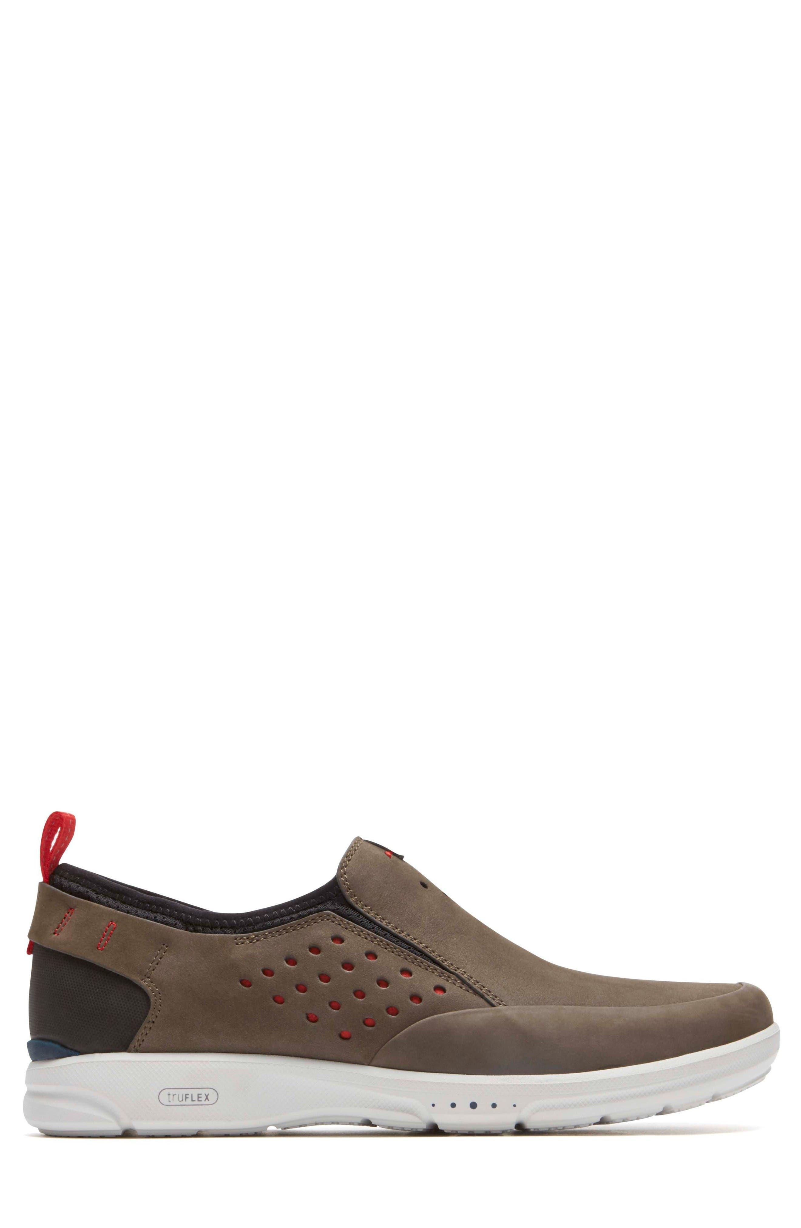 Truflex Slip-On,                             Alternate thumbnail 3, color,                             Dark Olive Leather