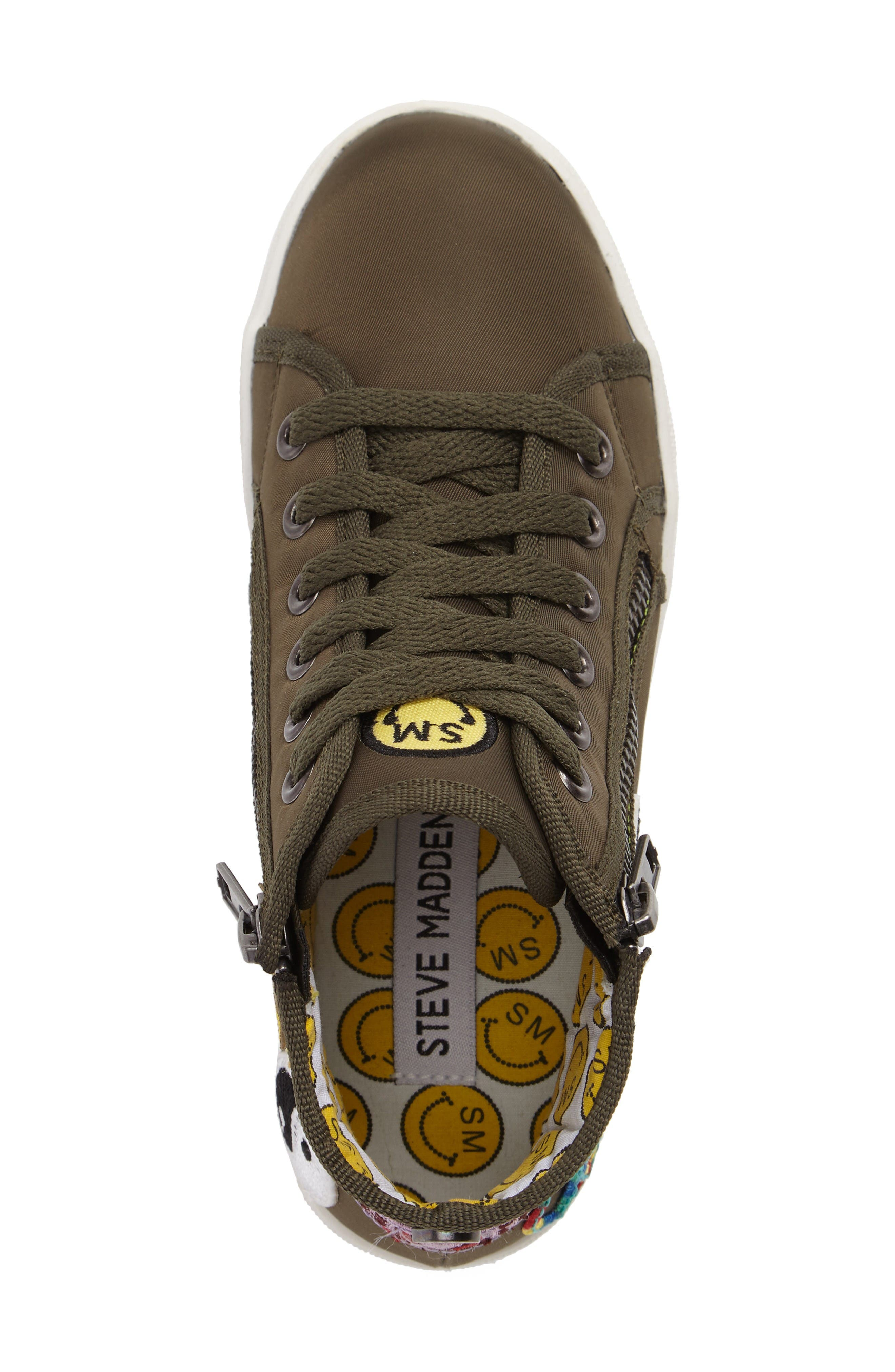 Alternate Image 5  - Steve Madden Code High Top Zip Sneaker (Toddler, Little Kid & Big Kid)