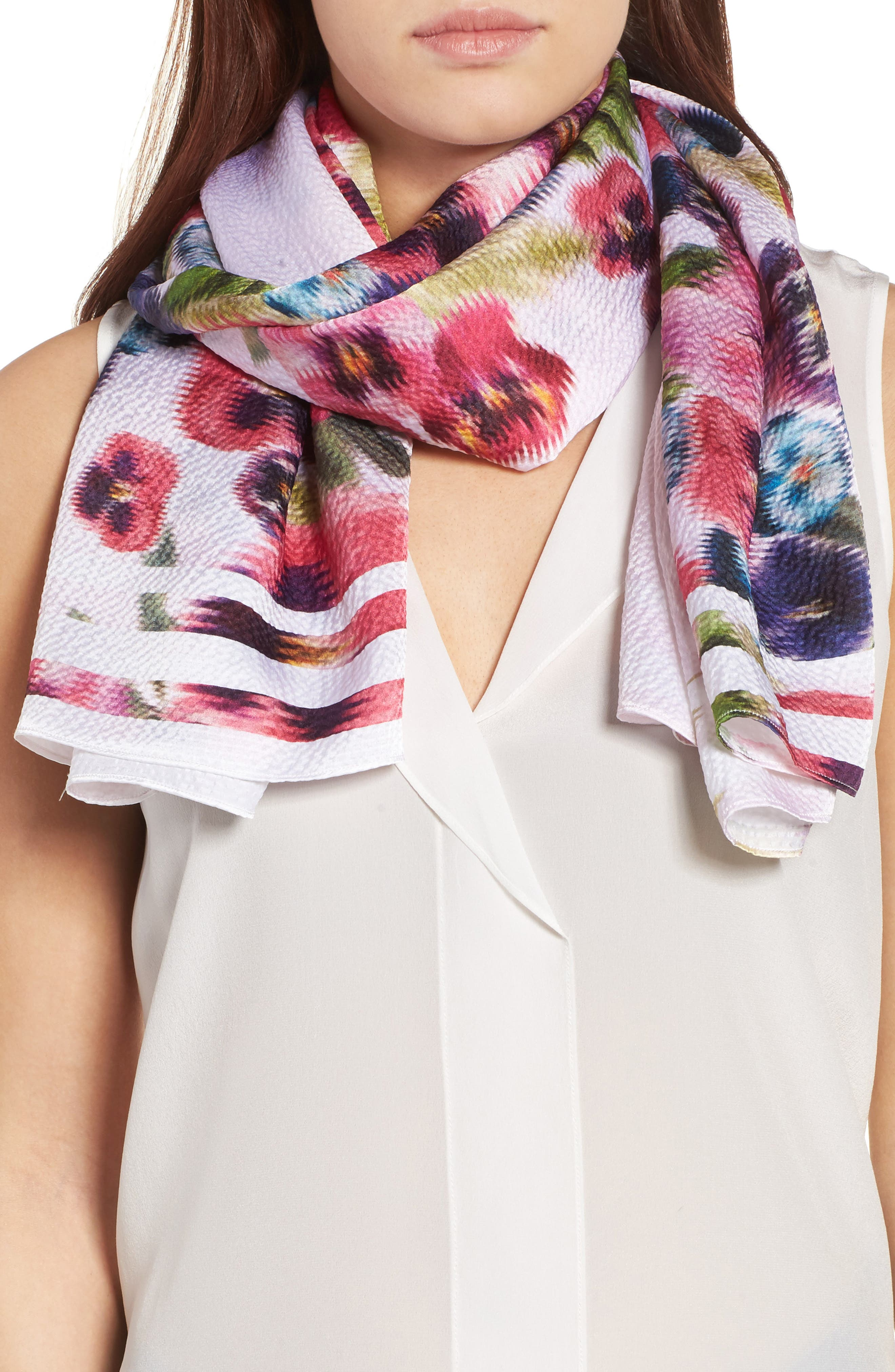 Alternate Image 4  - Ted Baker London Ellila Expressive Pansy Floral Cape Scarf
