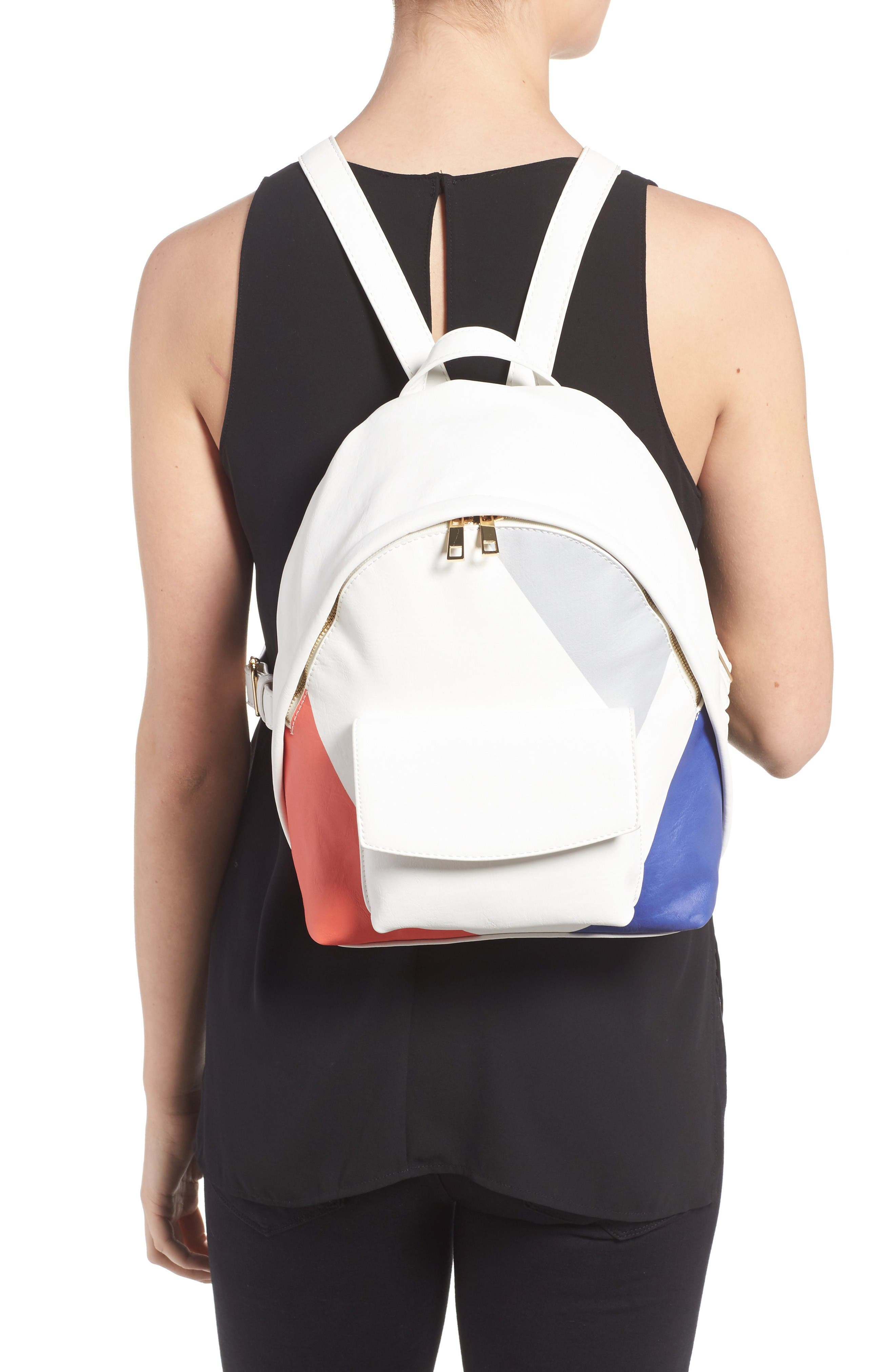 Alternate Image 2  - BP. Graphic Faux Leather Backpack