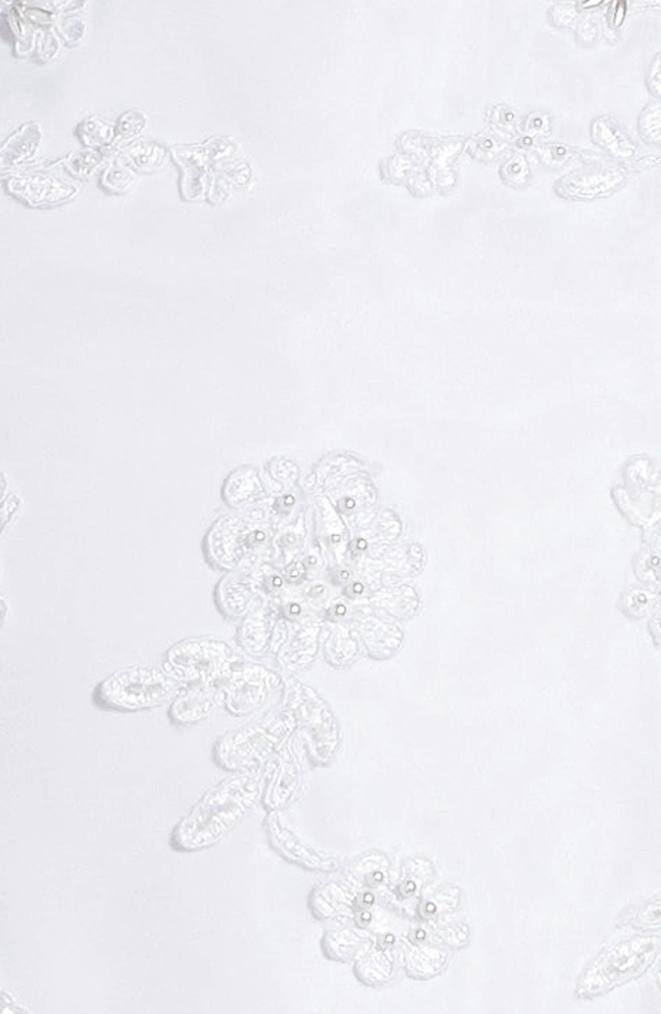 Alternate Image 3  - Us Angels Lace Floral Fit & Flare Dress (Little Girls & Big Girls)
