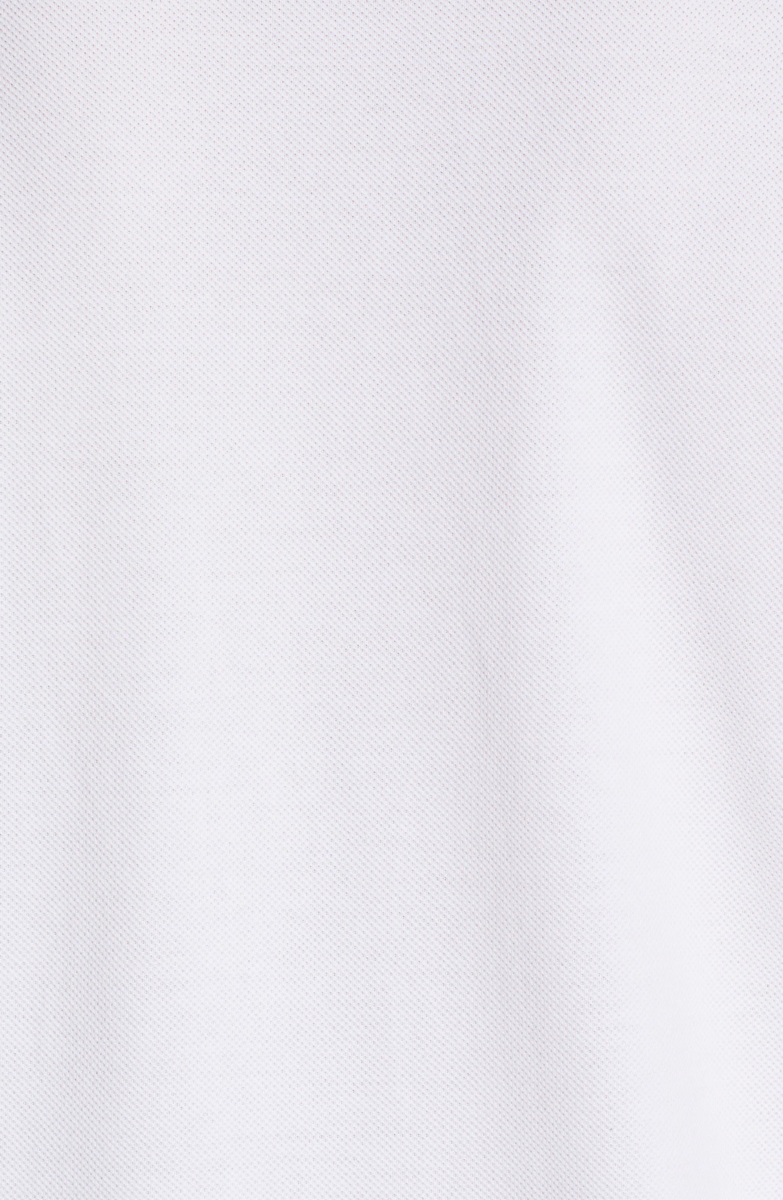 Comme des Garçons PLAY Stretch Heart Face Polo,                             Alternate thumbnail 5, color,                             White