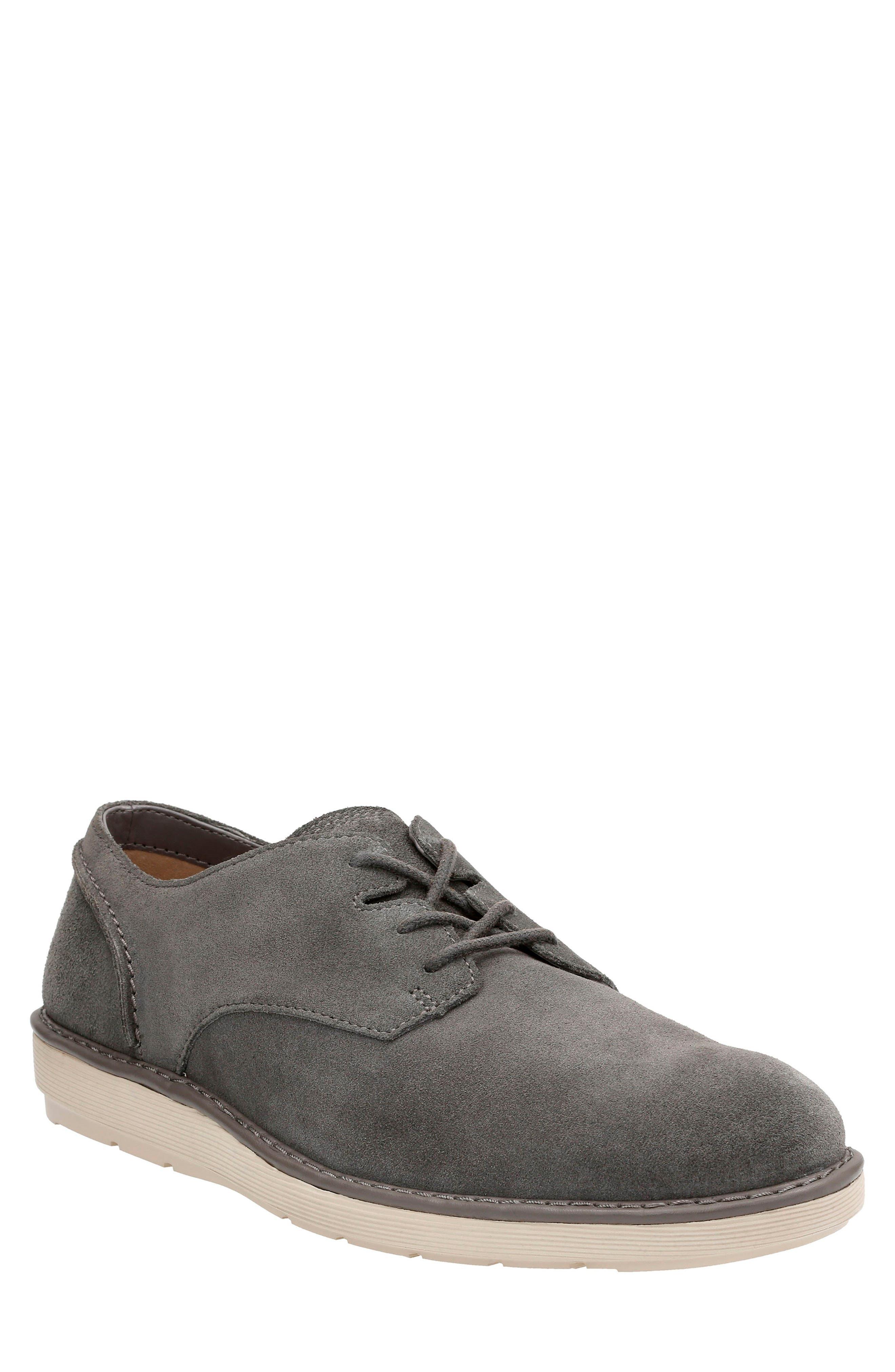 Fayeman Plain Toe Derby,                             Main thumbnail 1, color,                             Dark Grey Suede