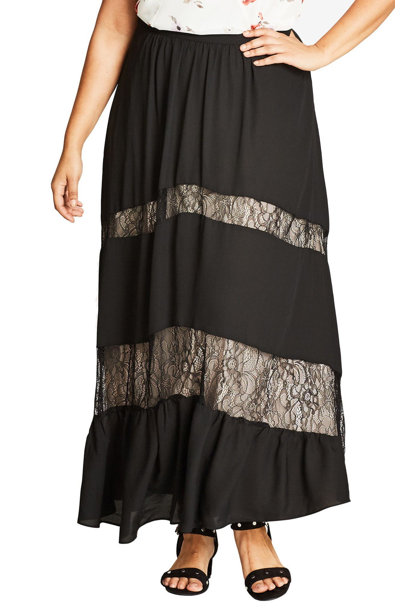 City Chic Romantic Maxi Skirt (Plus Size)