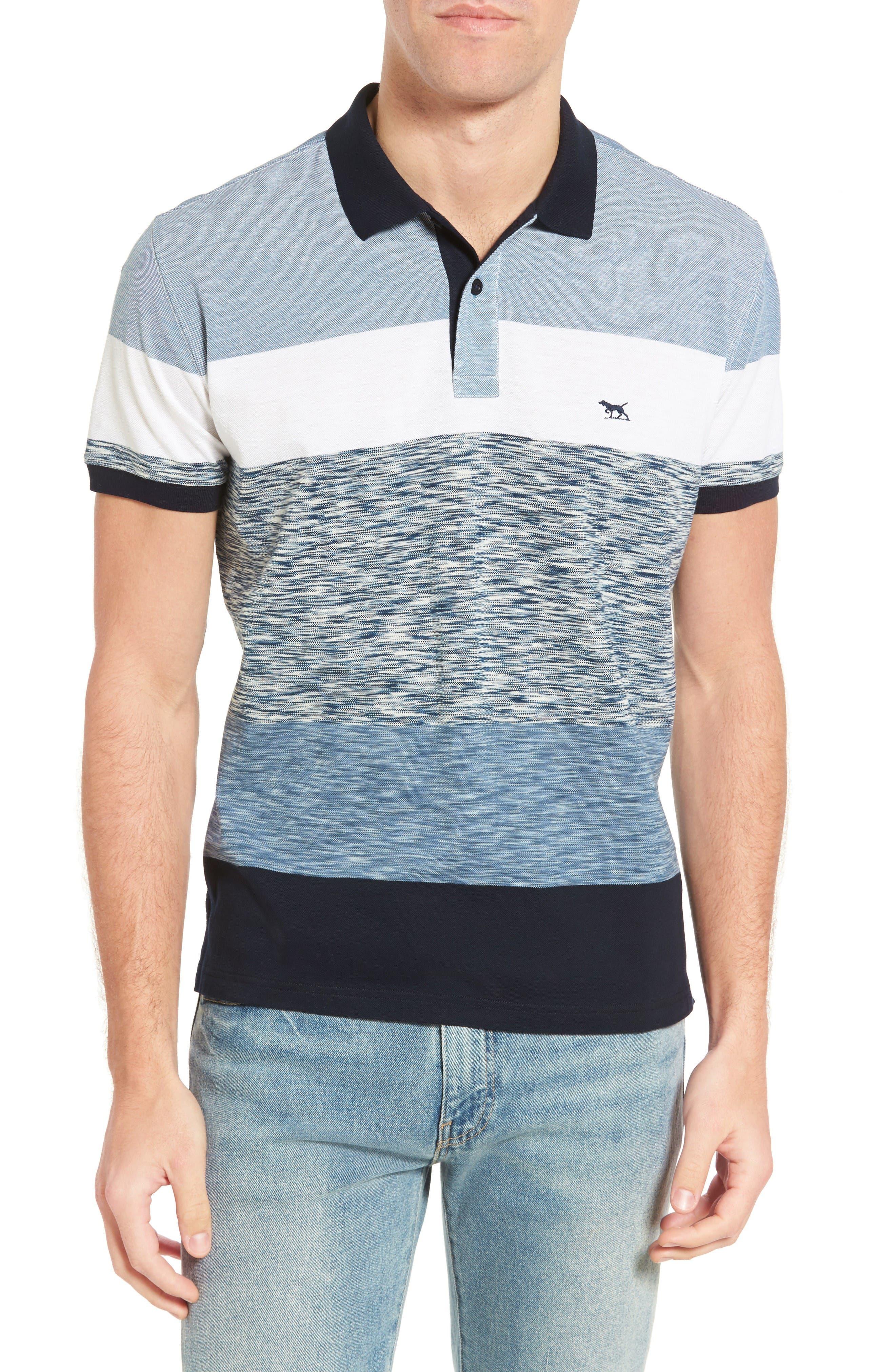 Castlepoint Sport Fit Stripe Polo,                         Main,                         color, Ocean