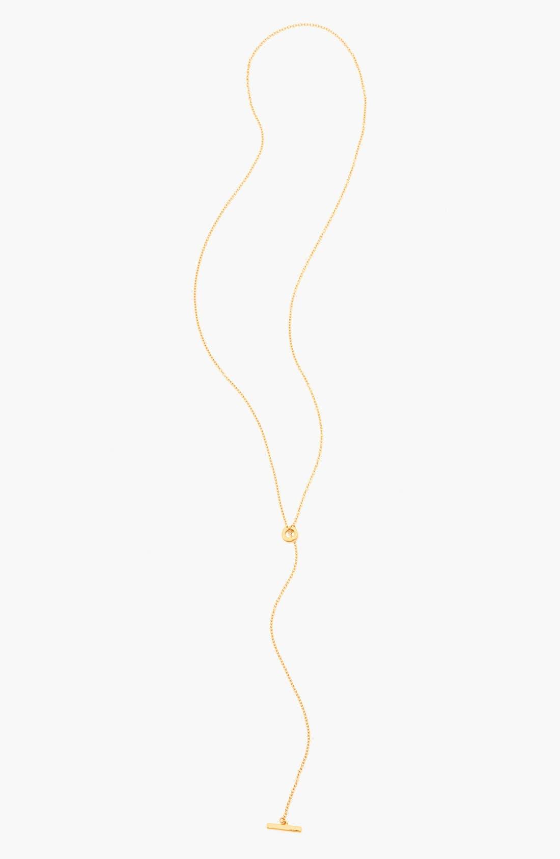 Alternate Image 1 Selected - gorjana 'Taner' Toggle Lariat Necklace