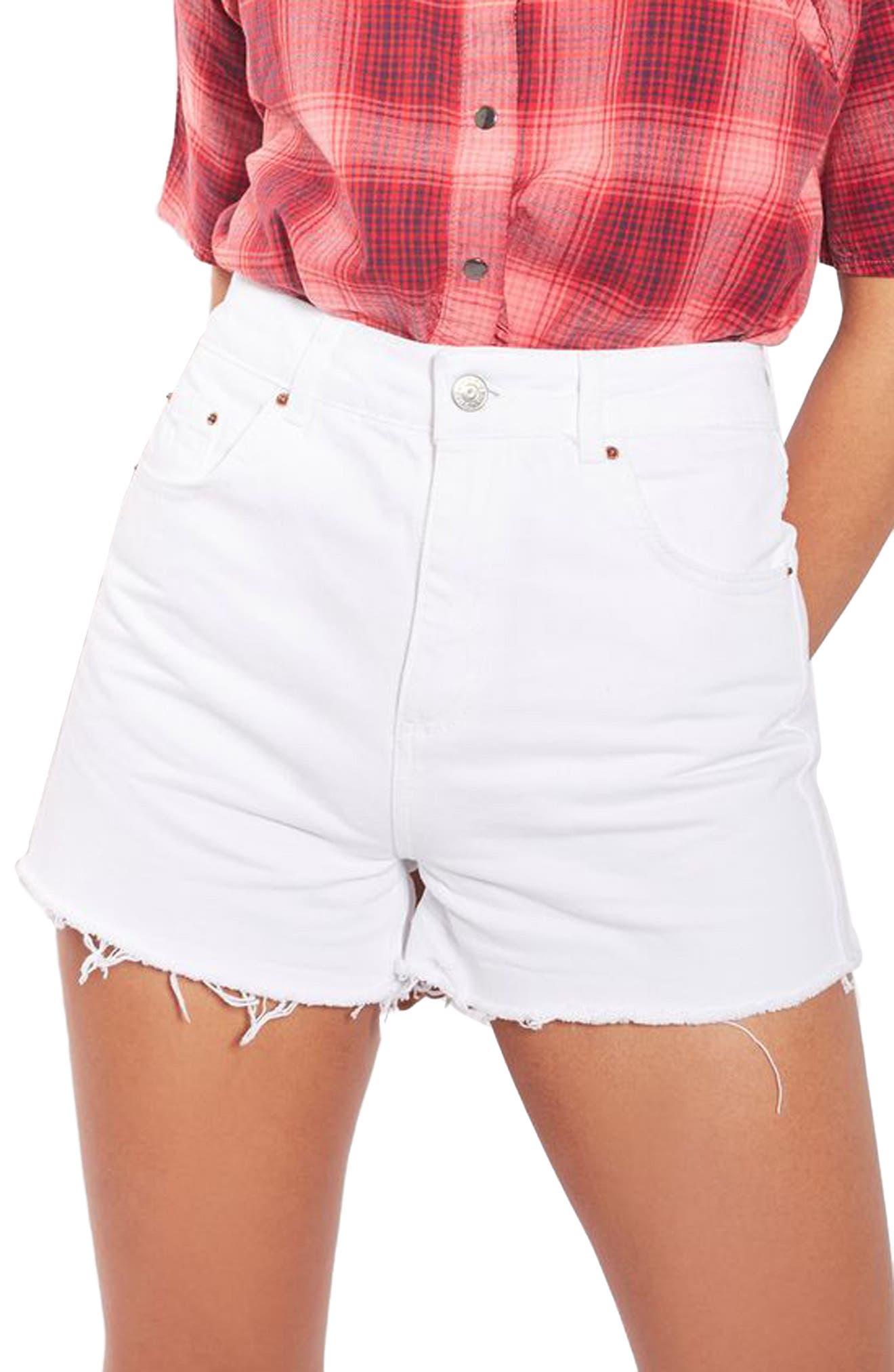 Mom Shorts,                         Main,                         color, White