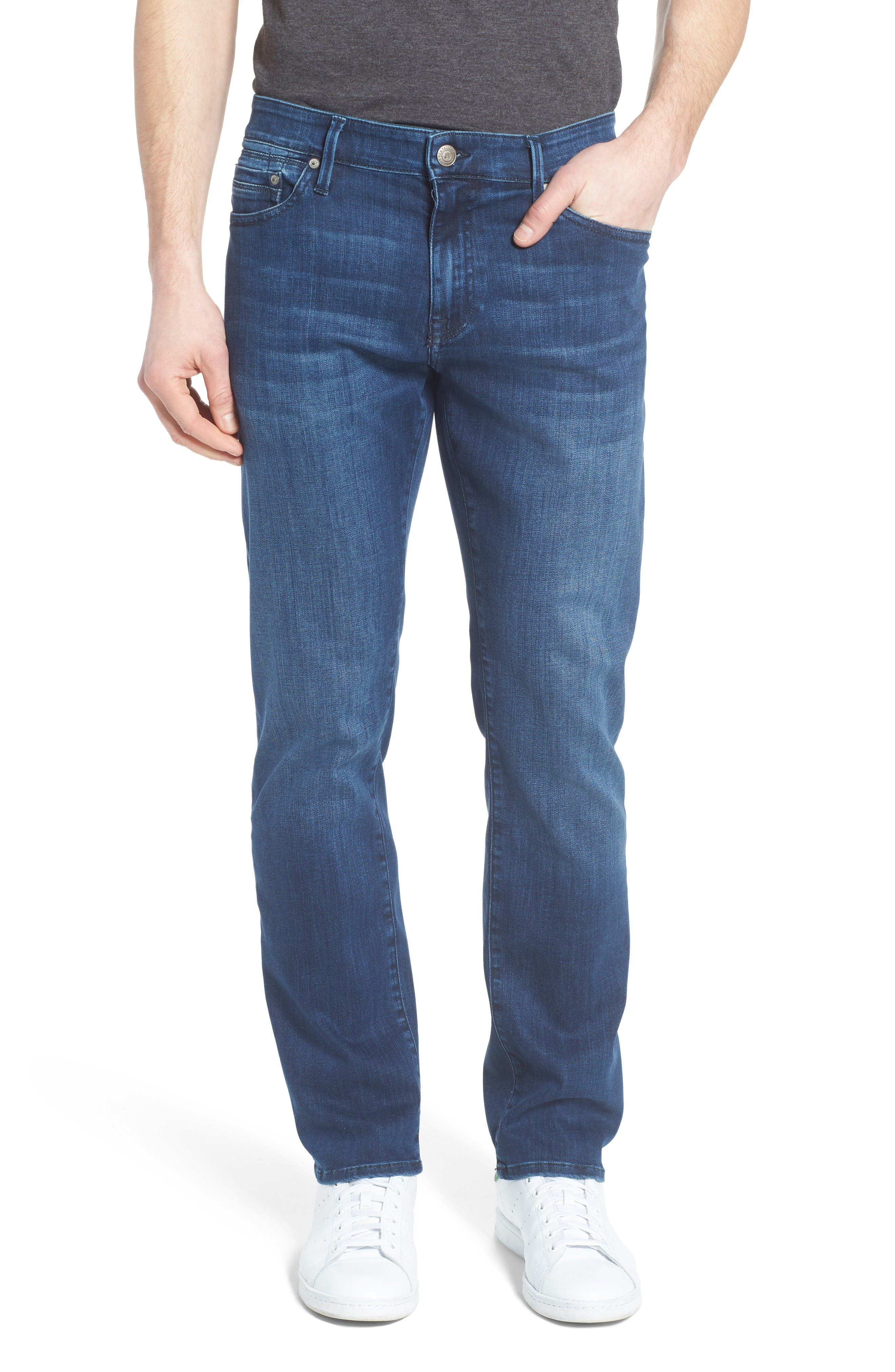 Zach Straight Leg Jeans,                         Main,                         color, Mid Comfort