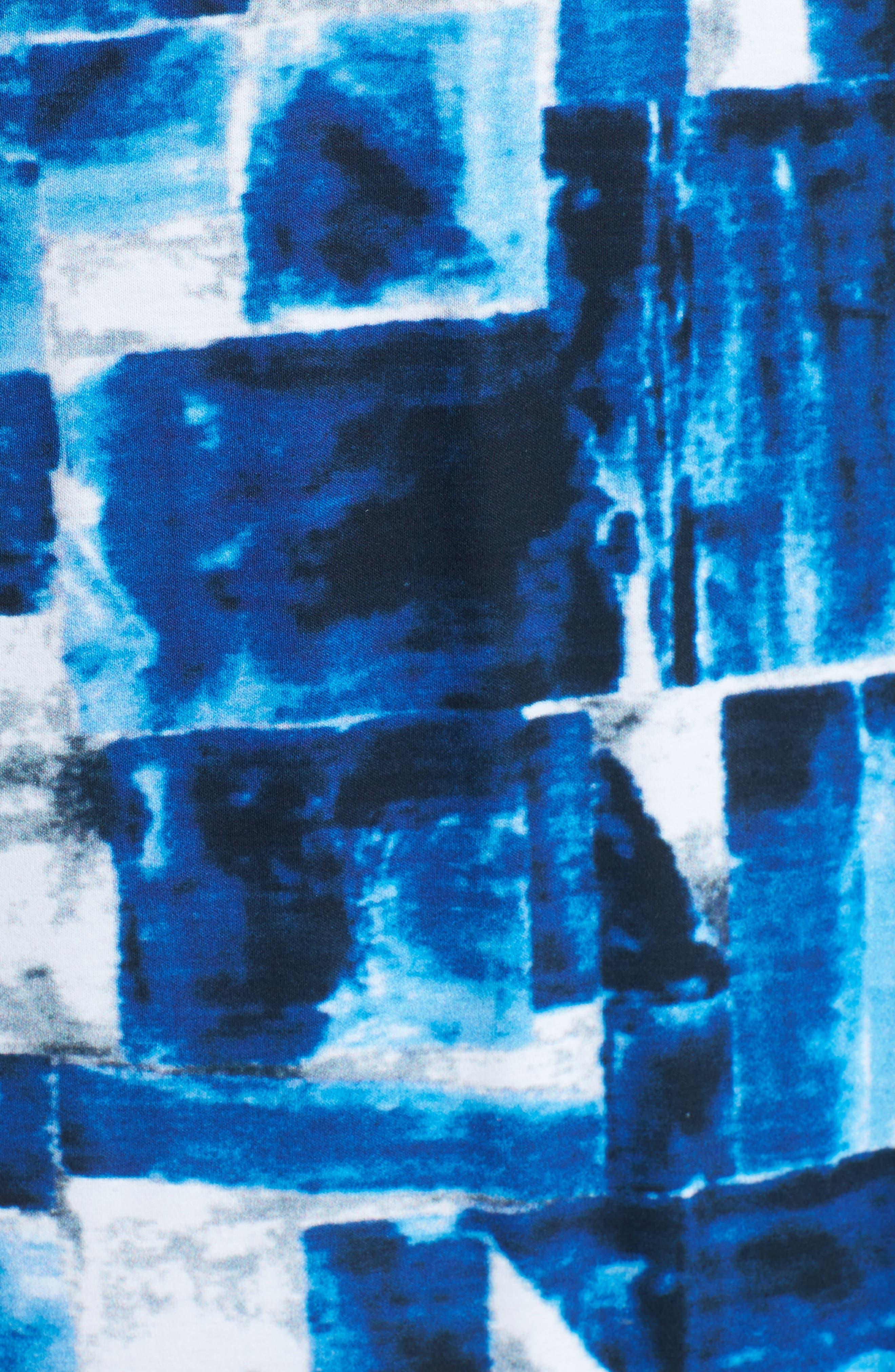 Print Jersey Polo,                             Alternate thumbnail 5, color,                             Night Blue