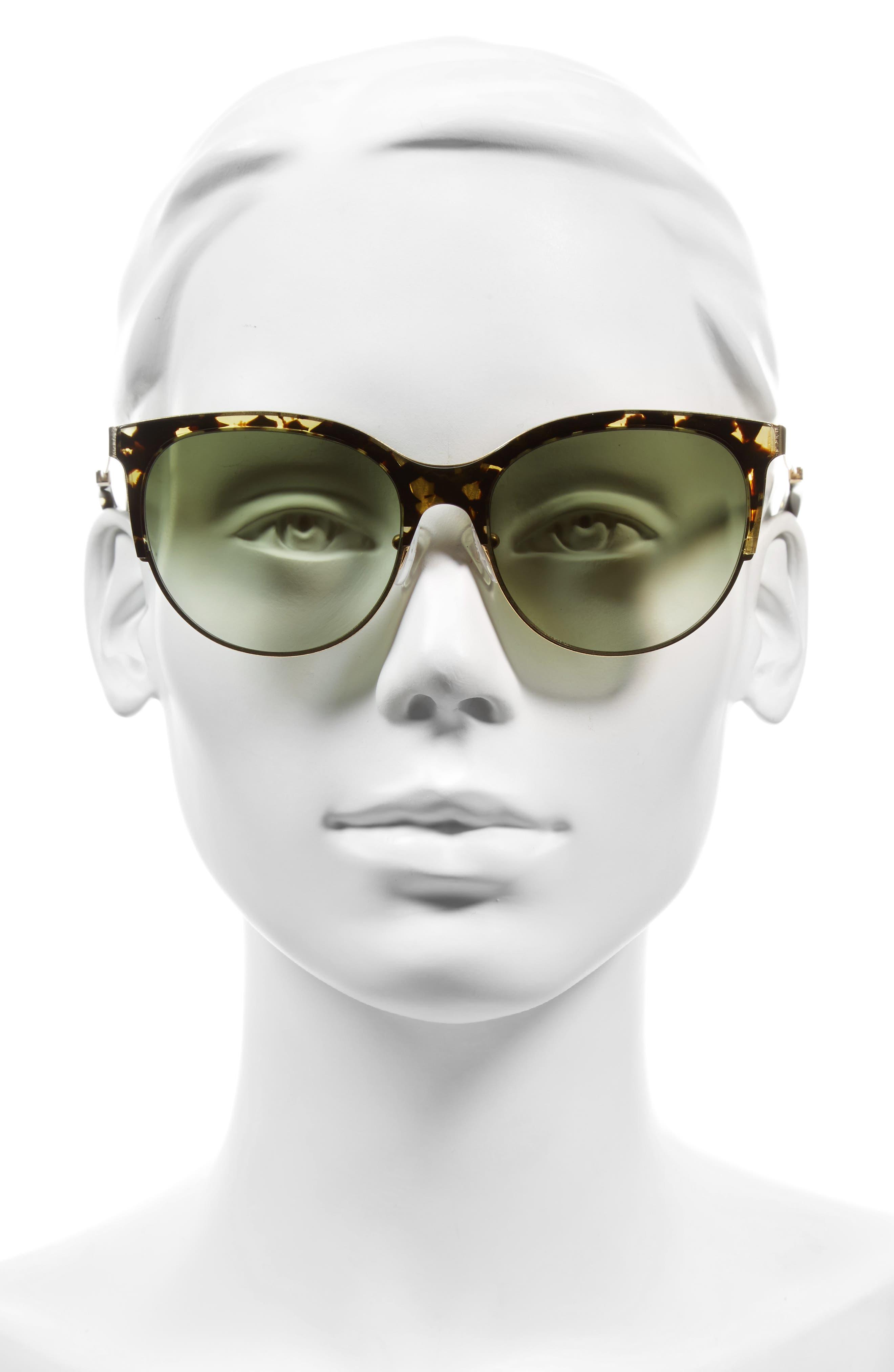 Alternate Image 2  - Victoria Beckham Layered Combination Kitten 55mm Sunglasses