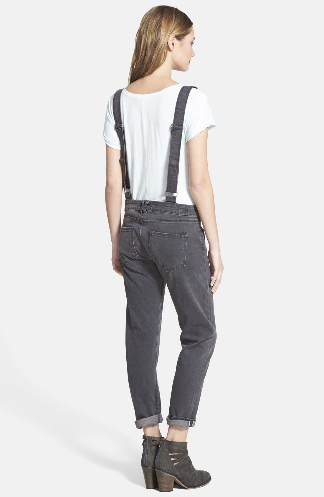 Alternate Image 2  - Paige Denim 'Phillipa' Boyfriend Jeans with Suspenders (Rudy)