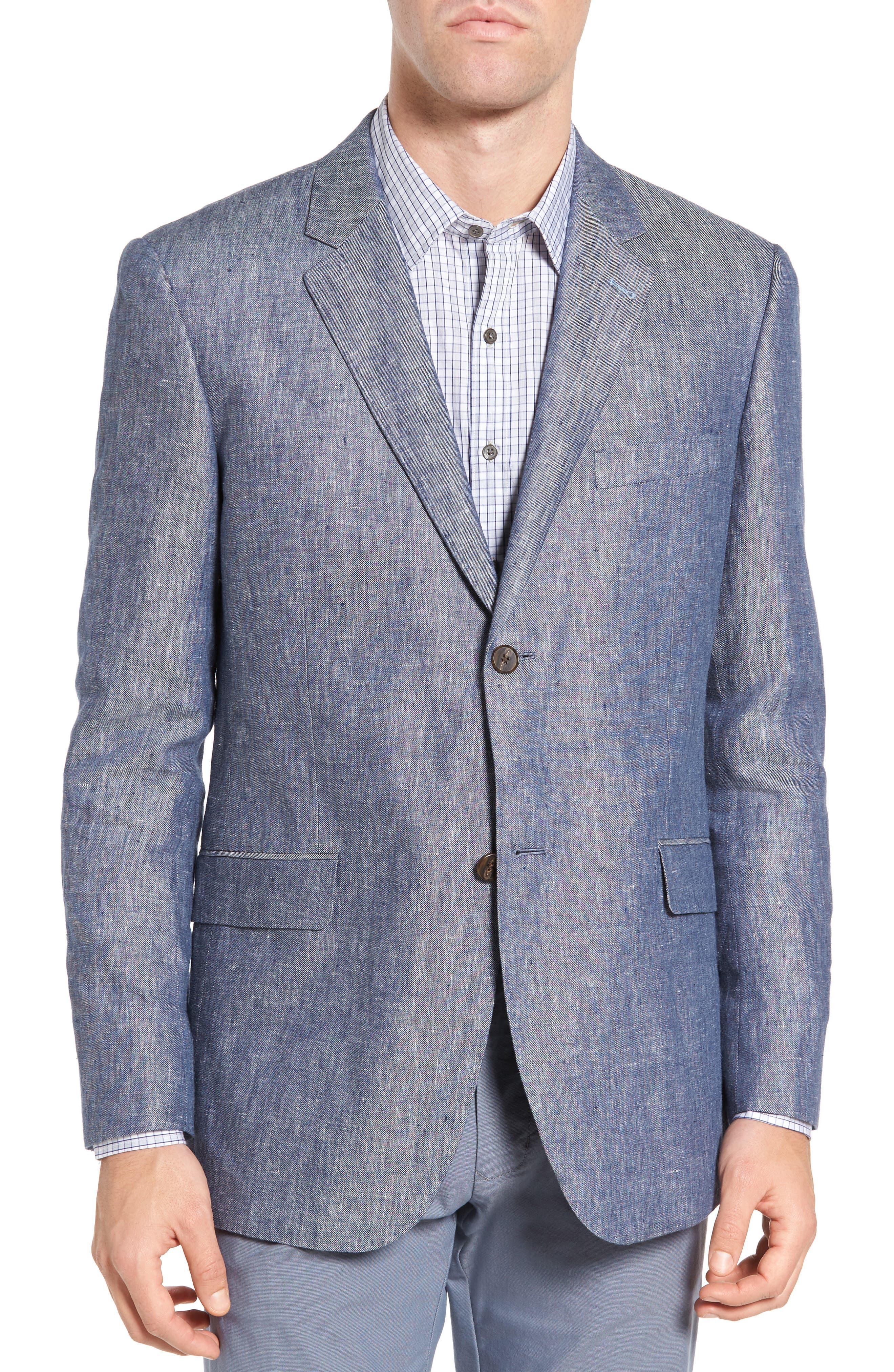 Druces Linen Sport Coat,                         Main,                         color, Denim