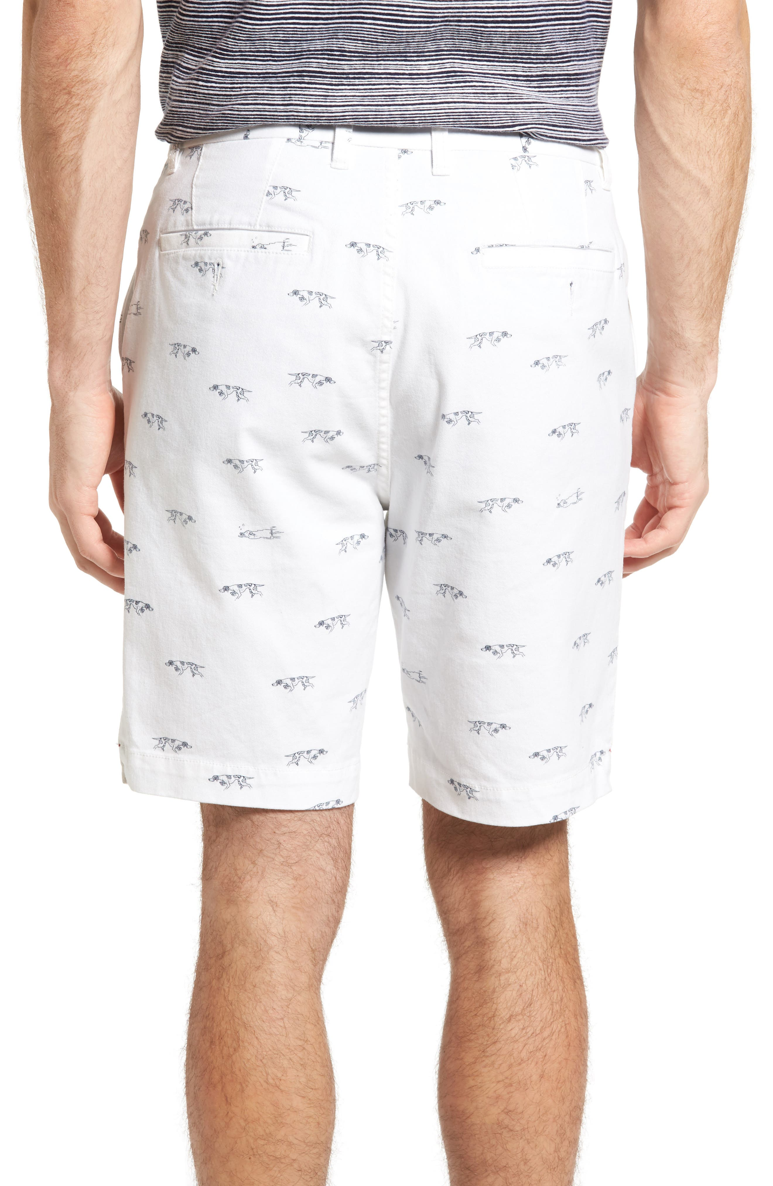 Lauriston Print Twill Shorts,                             Alternate thumbnail 2, color,                             Chalk