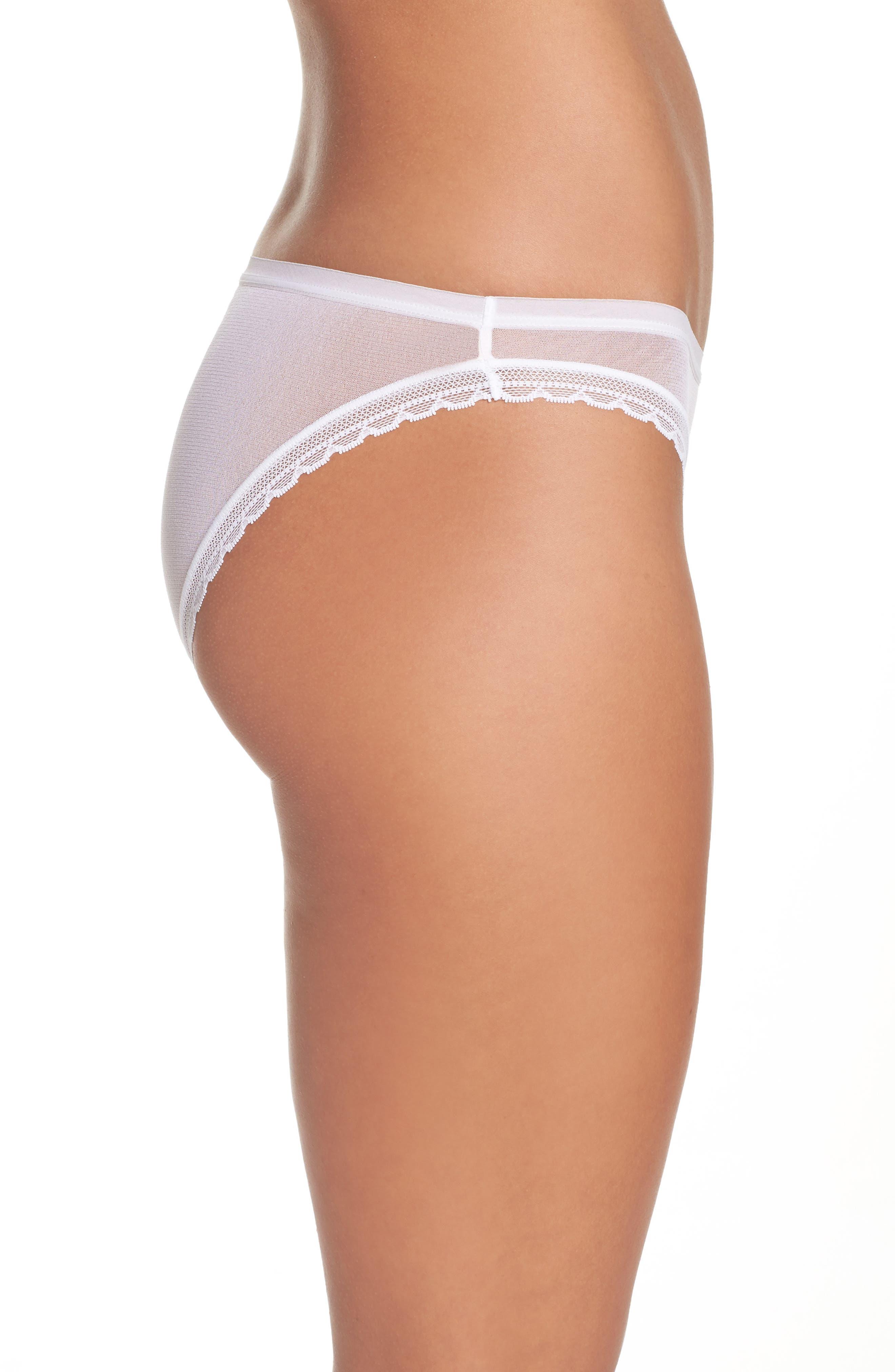 Mesh Bikini,                             Alternate thumbnail 3, color,                             White
