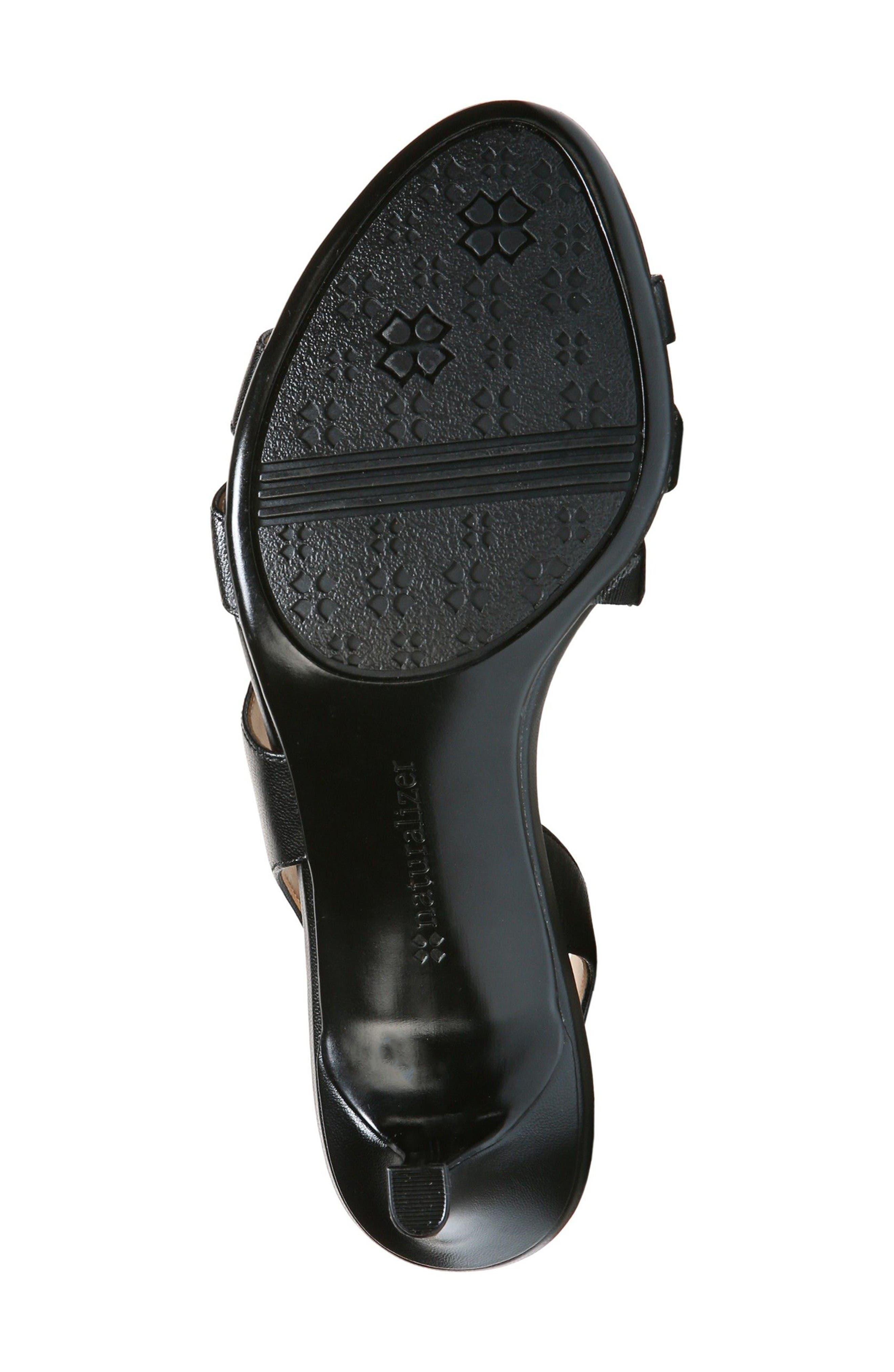 Taimi Sandal,                             Alternate thumbnail 3, color,                             Black Leather