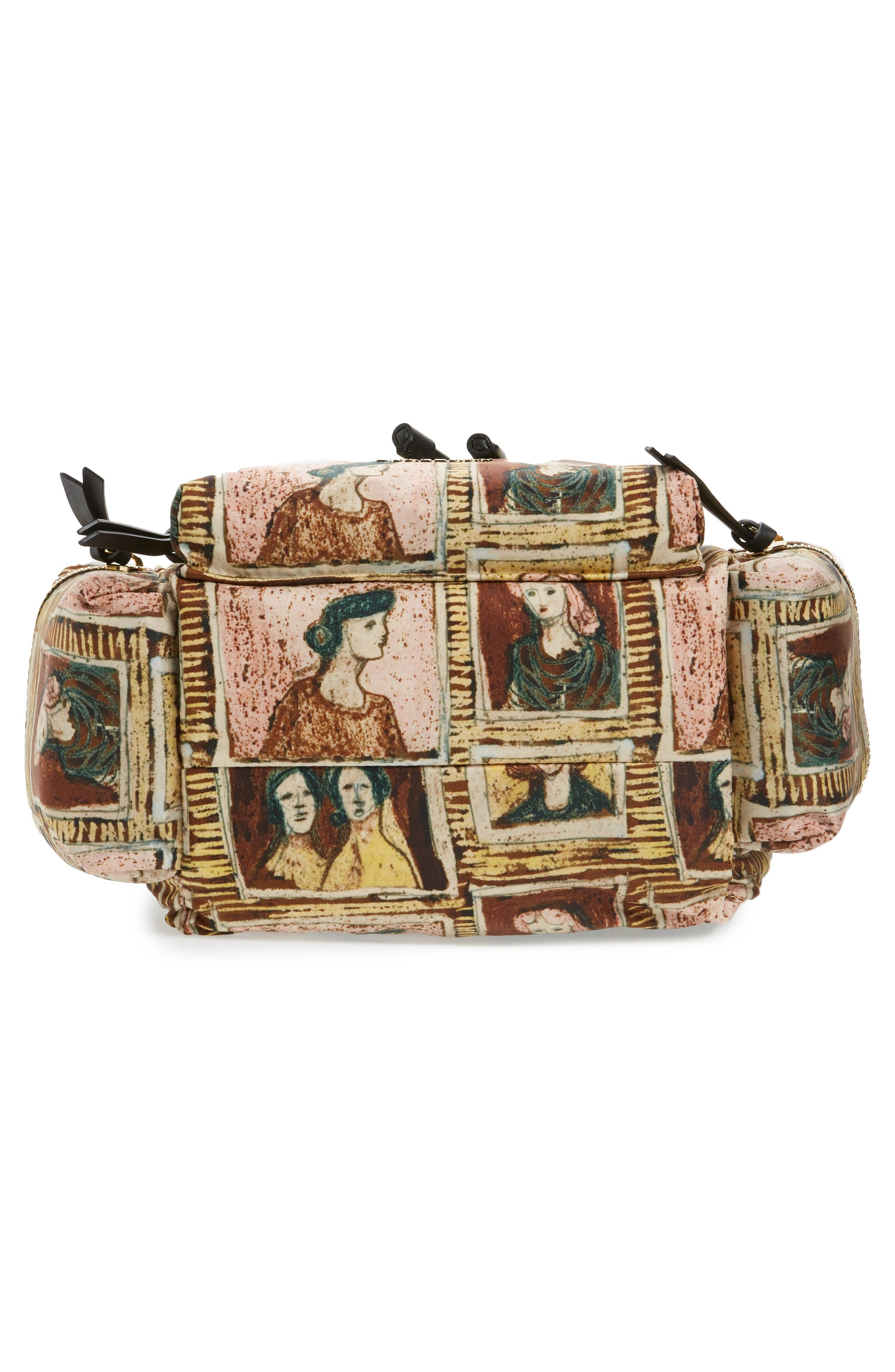 Medium Henrey Backpack,                             Alternate thumbnail 6, color,                             Umber Brown Multi