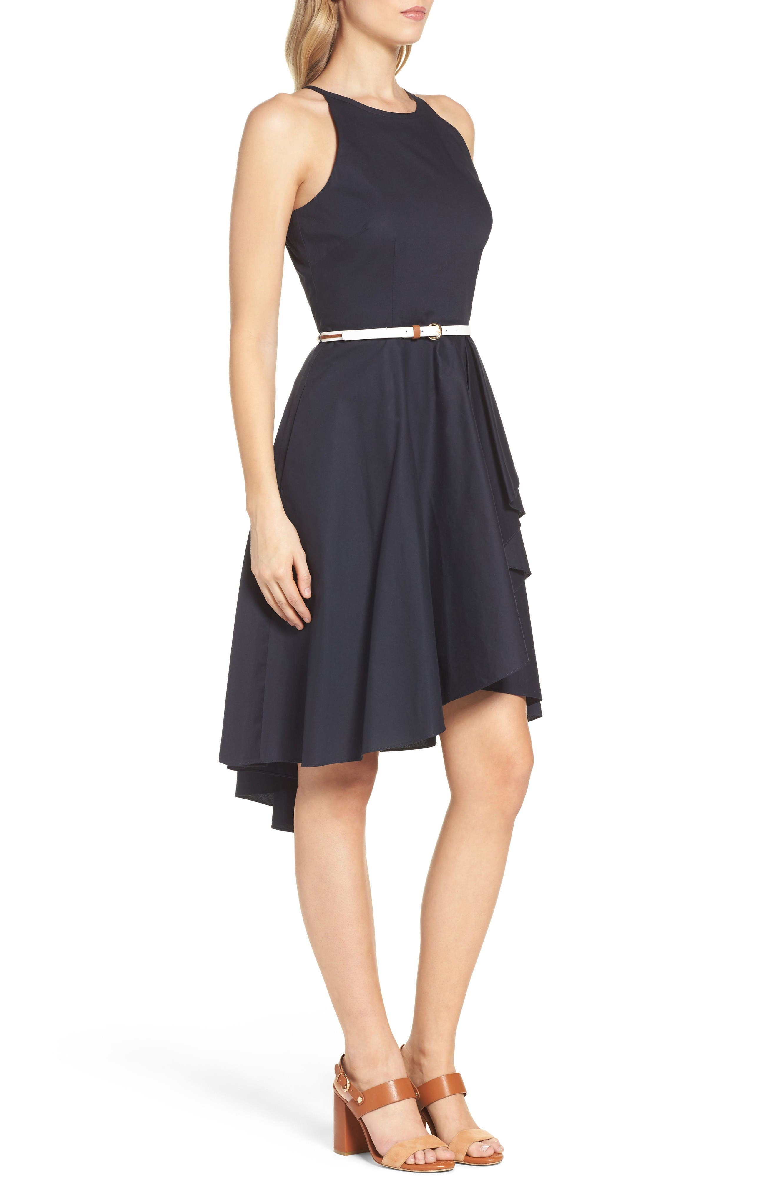 High/Low Dress,                             Alternate thumbnail 3, color,                             Navy