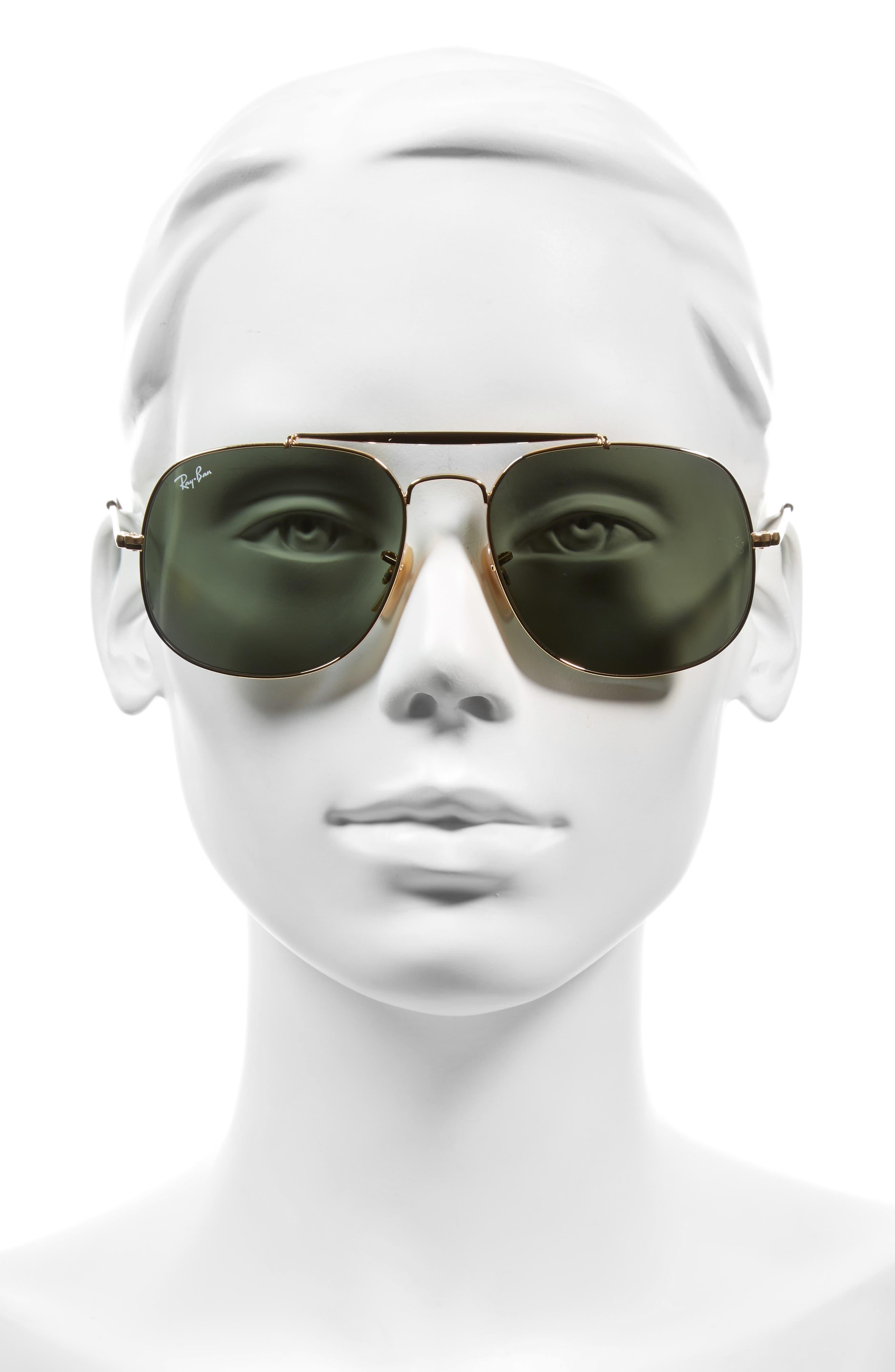 Alternate Image 2  - Ray-Ban 57mm Aviator Sunglasses