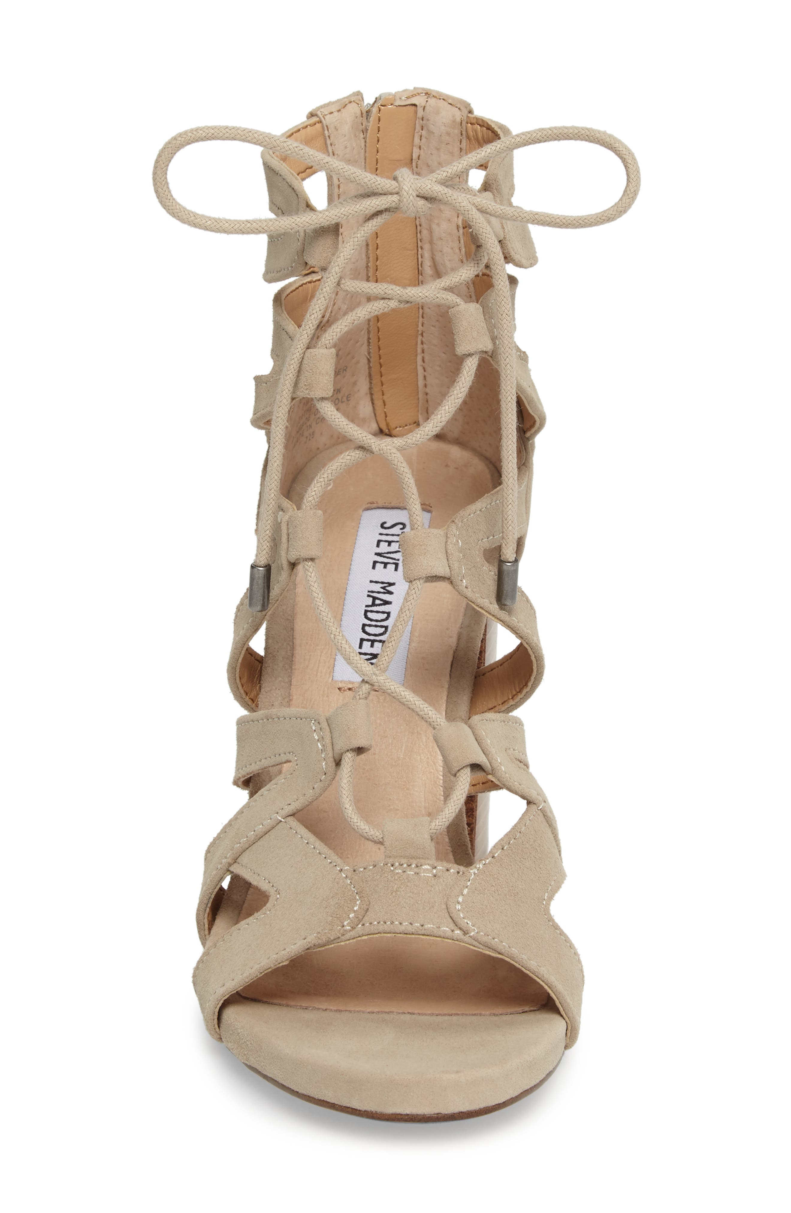 Gwyneth Sandal,                             Alternate thumbnail 4, color,                             Taupe Suede