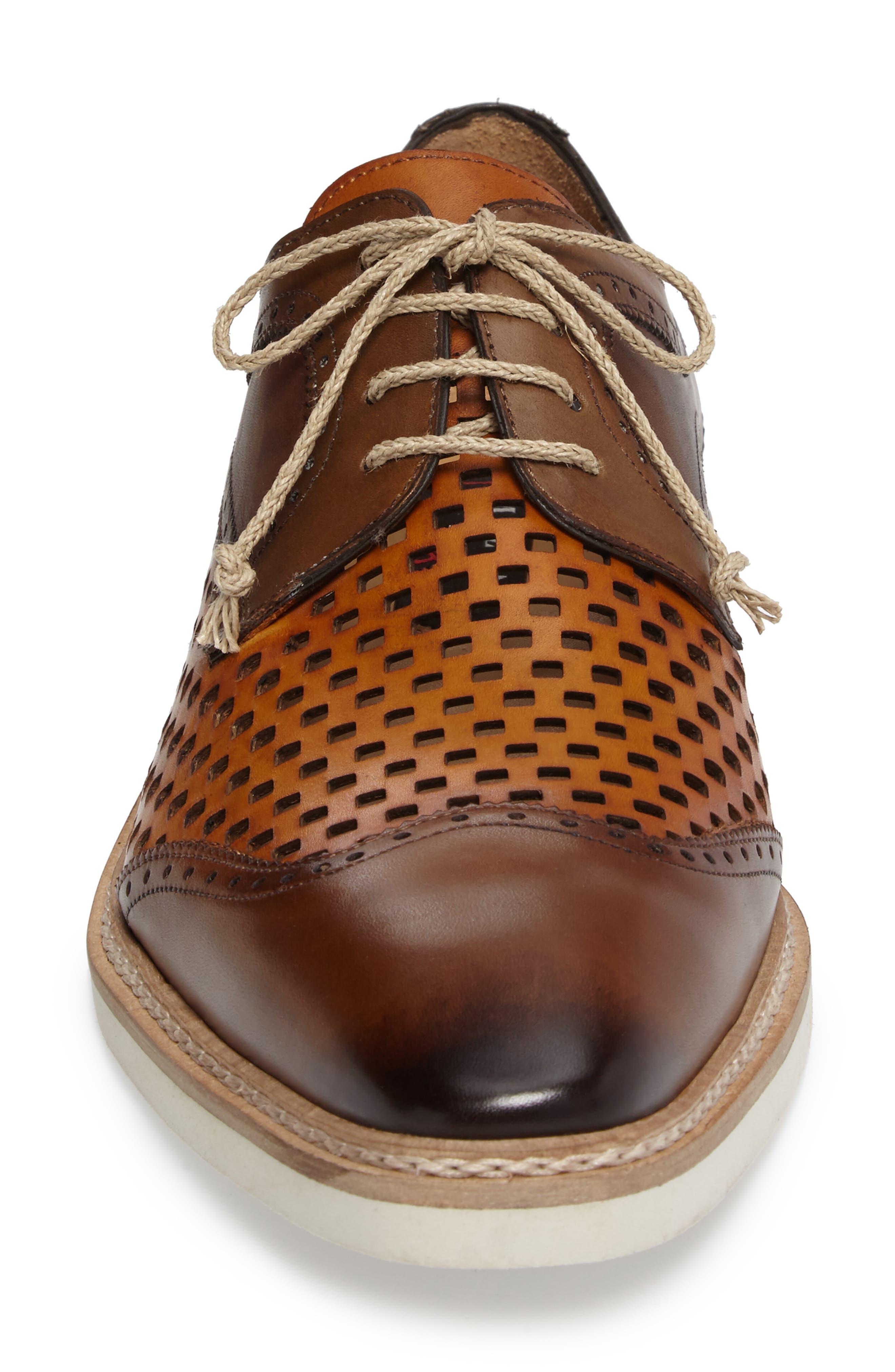 Alvarez Spectator Shoe,                             Alternate thumbnail 4, color,                             Cognac Multi Leather