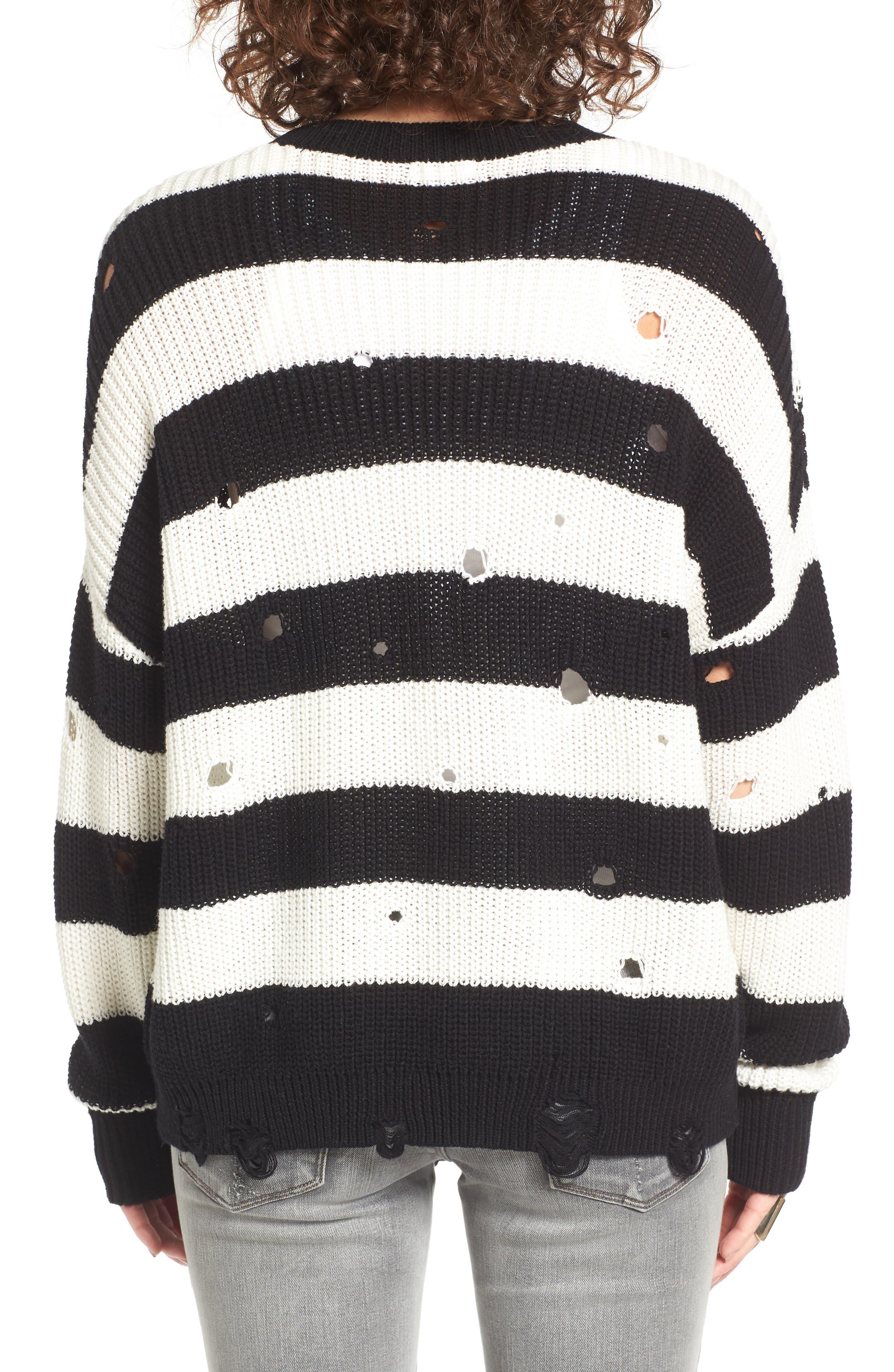 Alternate Image 3  - BP. Decontructed Stripe Cotton Pullover