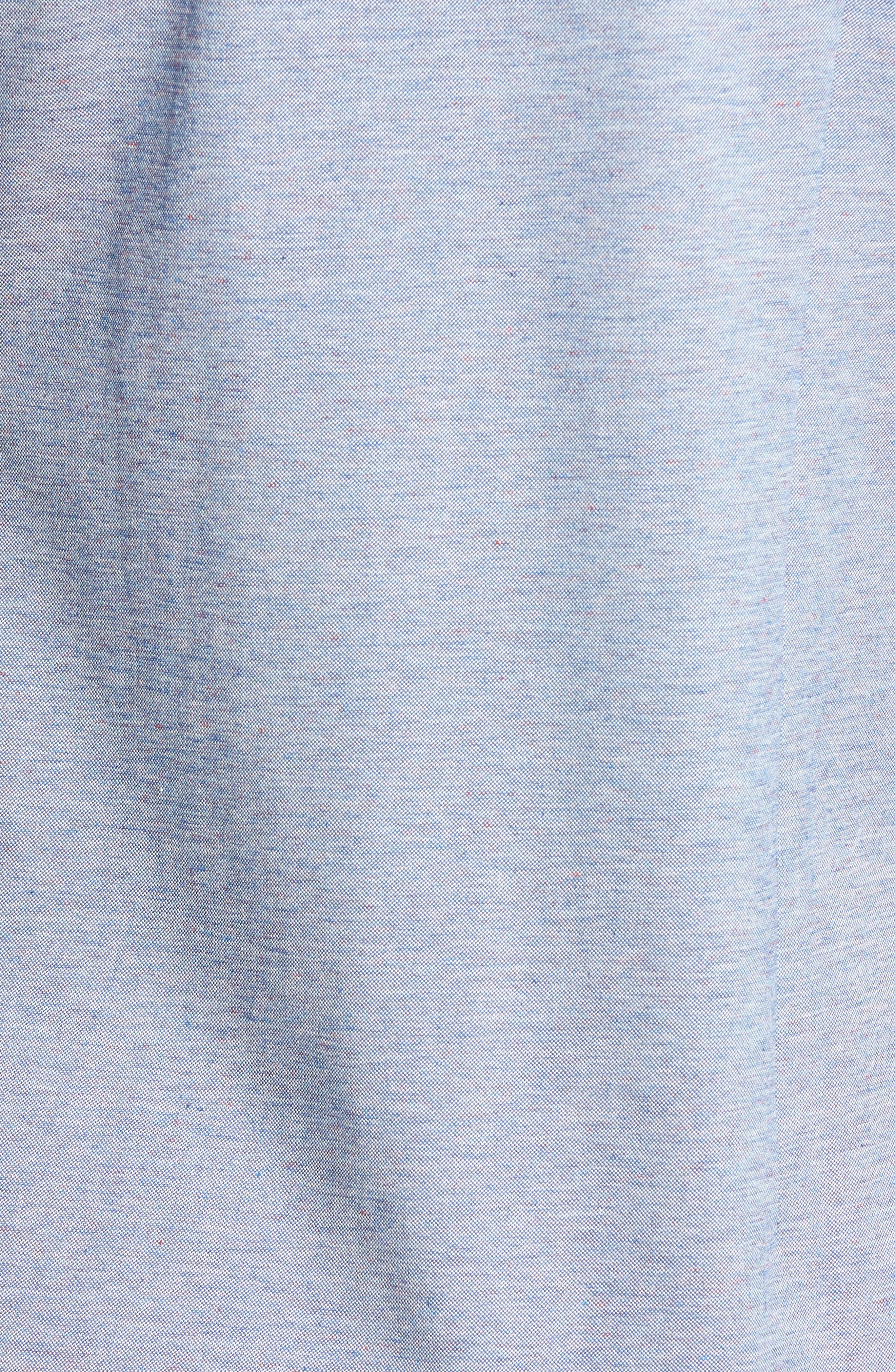 Alternate Image 5  - Bugatchi Shaped Fit Knit Sport Shirt