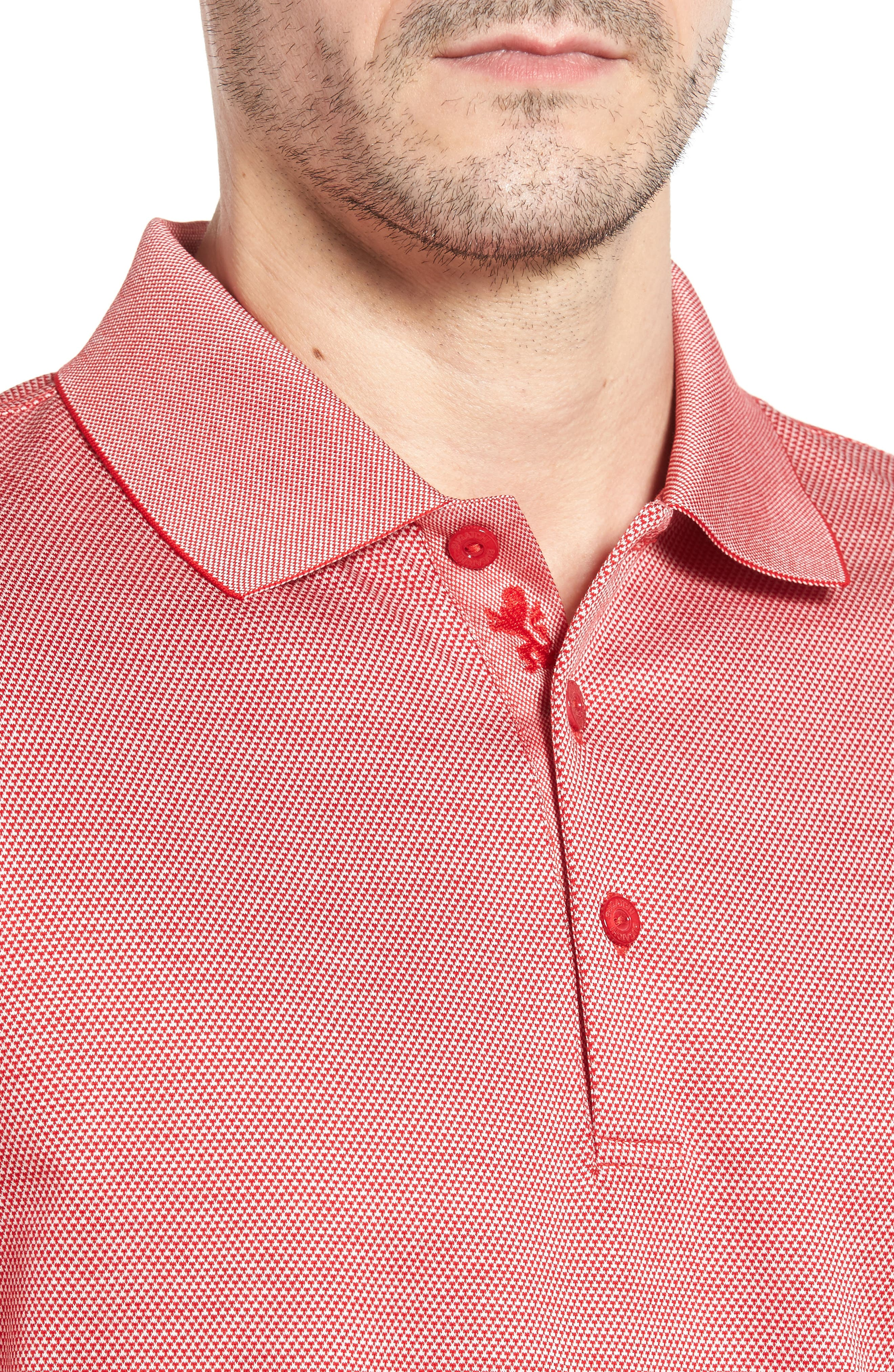 Two-Tone Polo,                             Alternate thumbnail 4, color,                             Coral