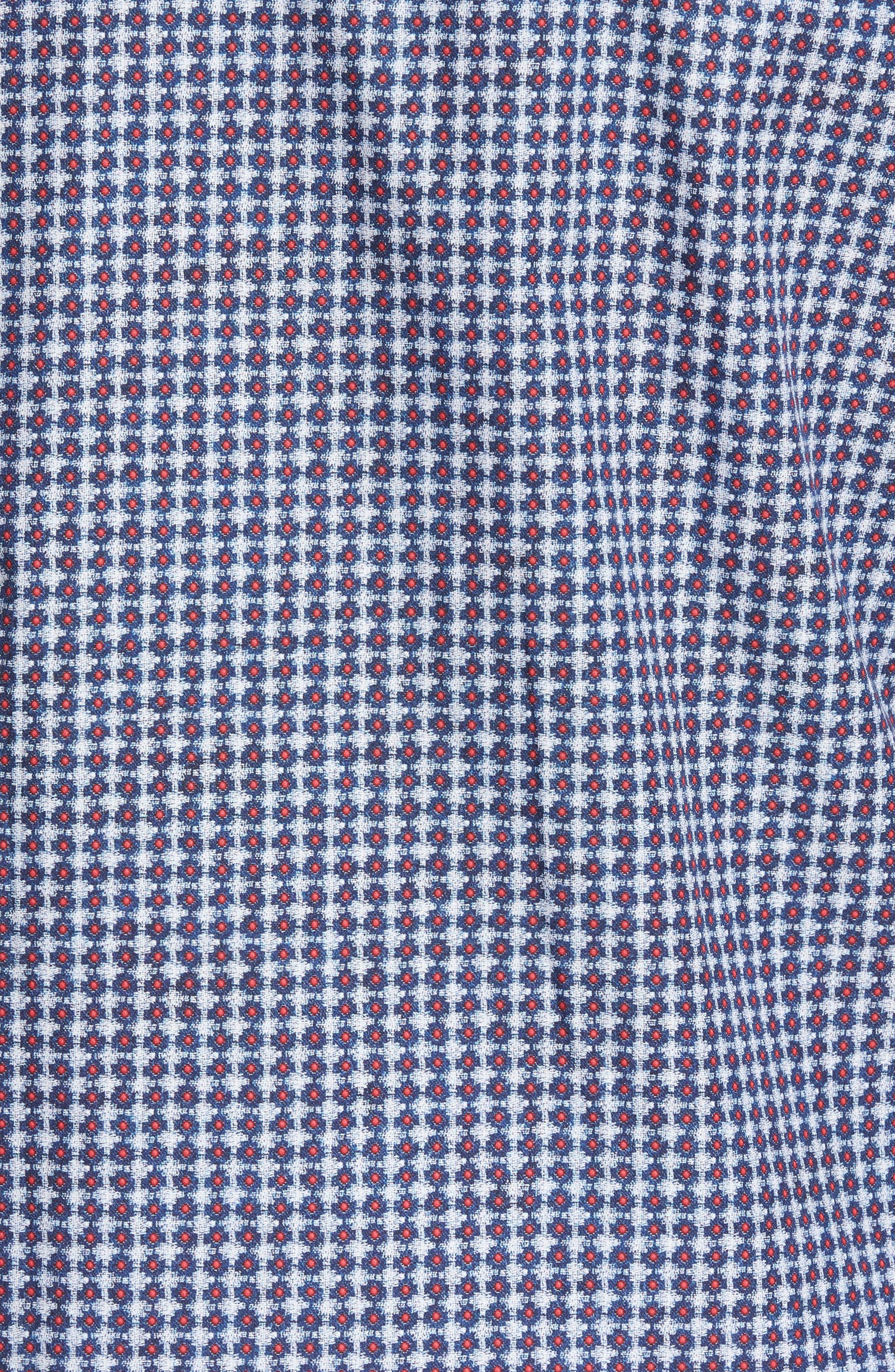 Classic Fit Geo Print Sport Shirt,                             Alternate thumbnail 5, color,                             Navy