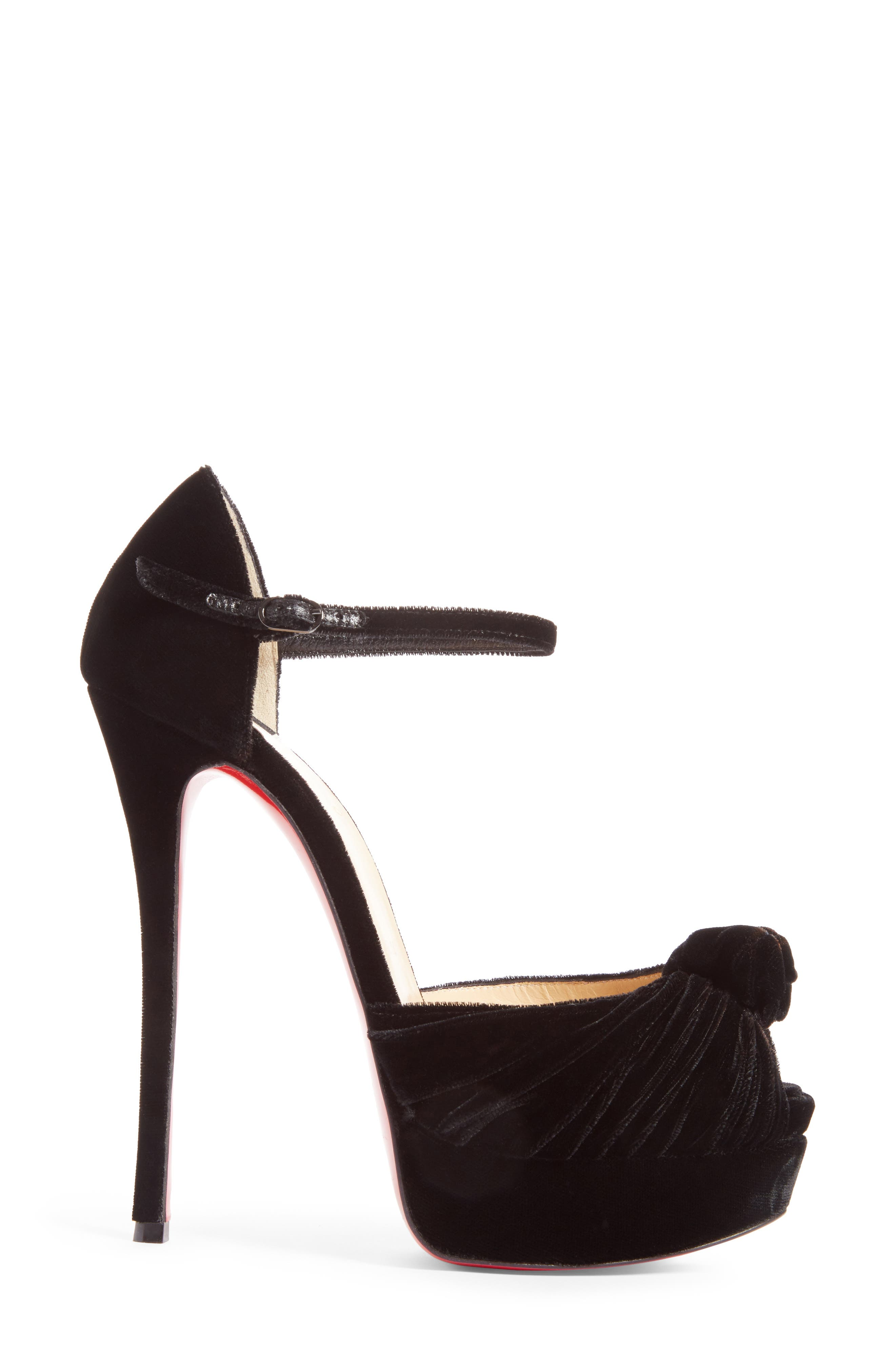 Marchavekel Ankle Strap Platform Sandal,                             Alternate thumbnail 4, color,                             Black Velvet