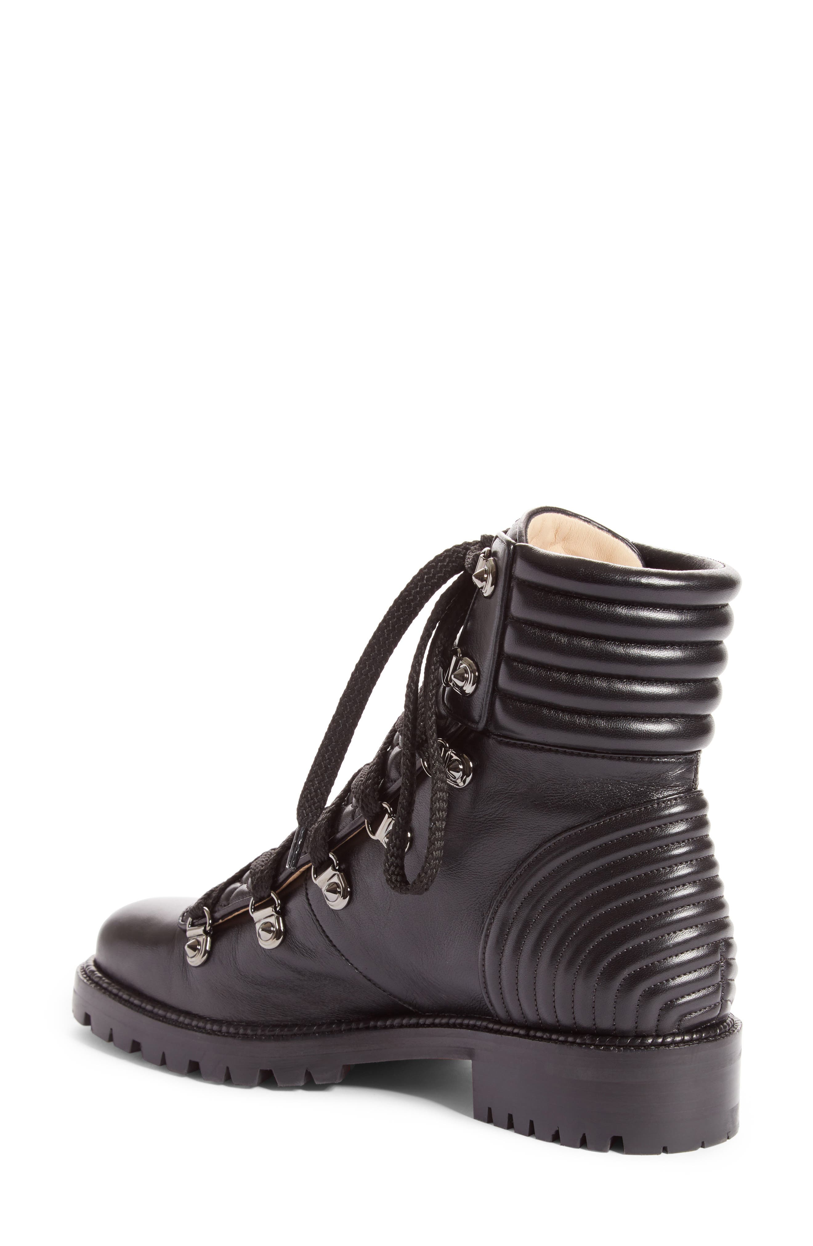 Mad Combat Boot,                             Alternate thumbnail 2, color,                             Black Leather