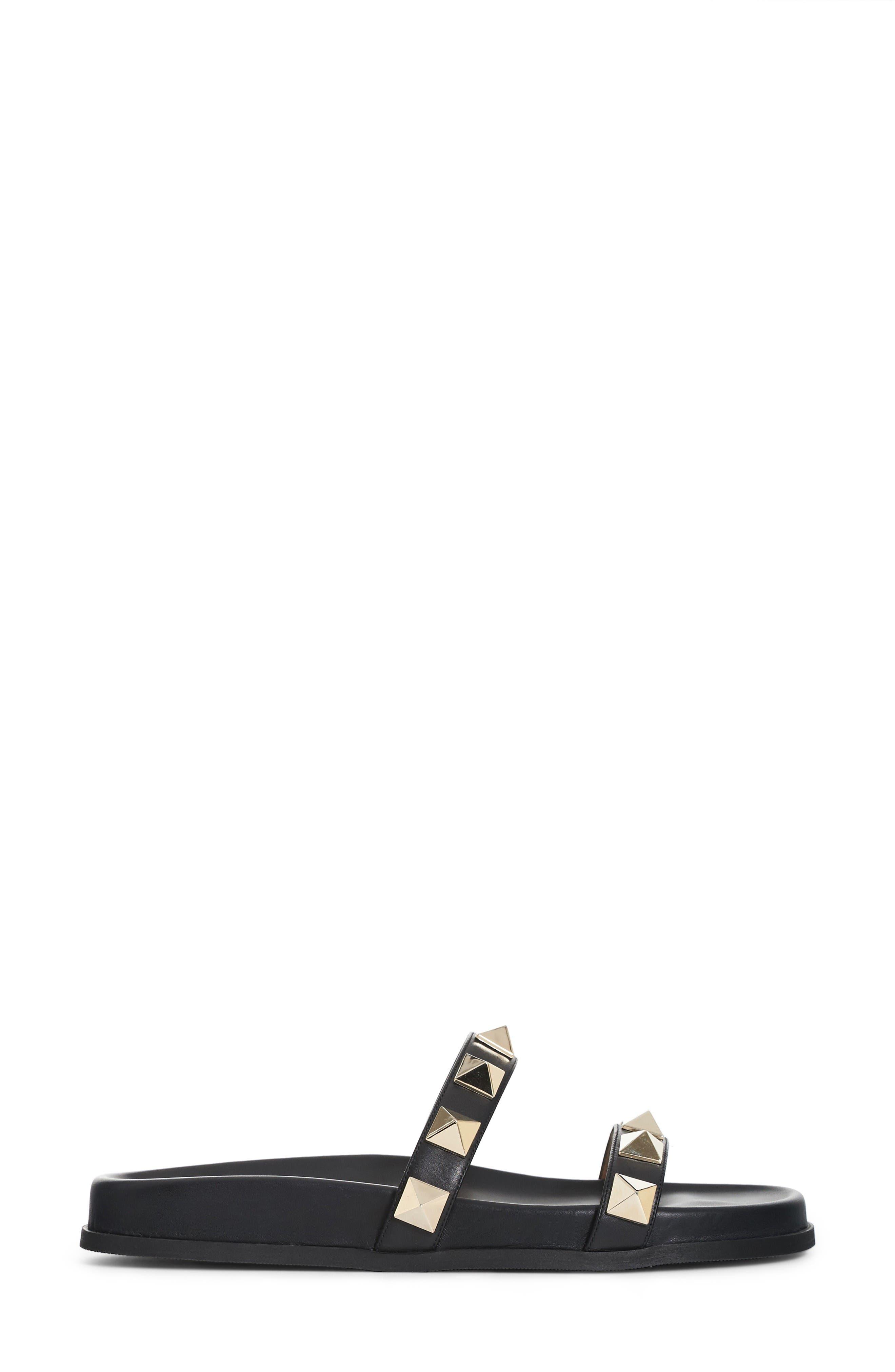 Alternate Image 4  - VALENTINO GARAVANI Rockstud Lock Slide Sandal (Women)