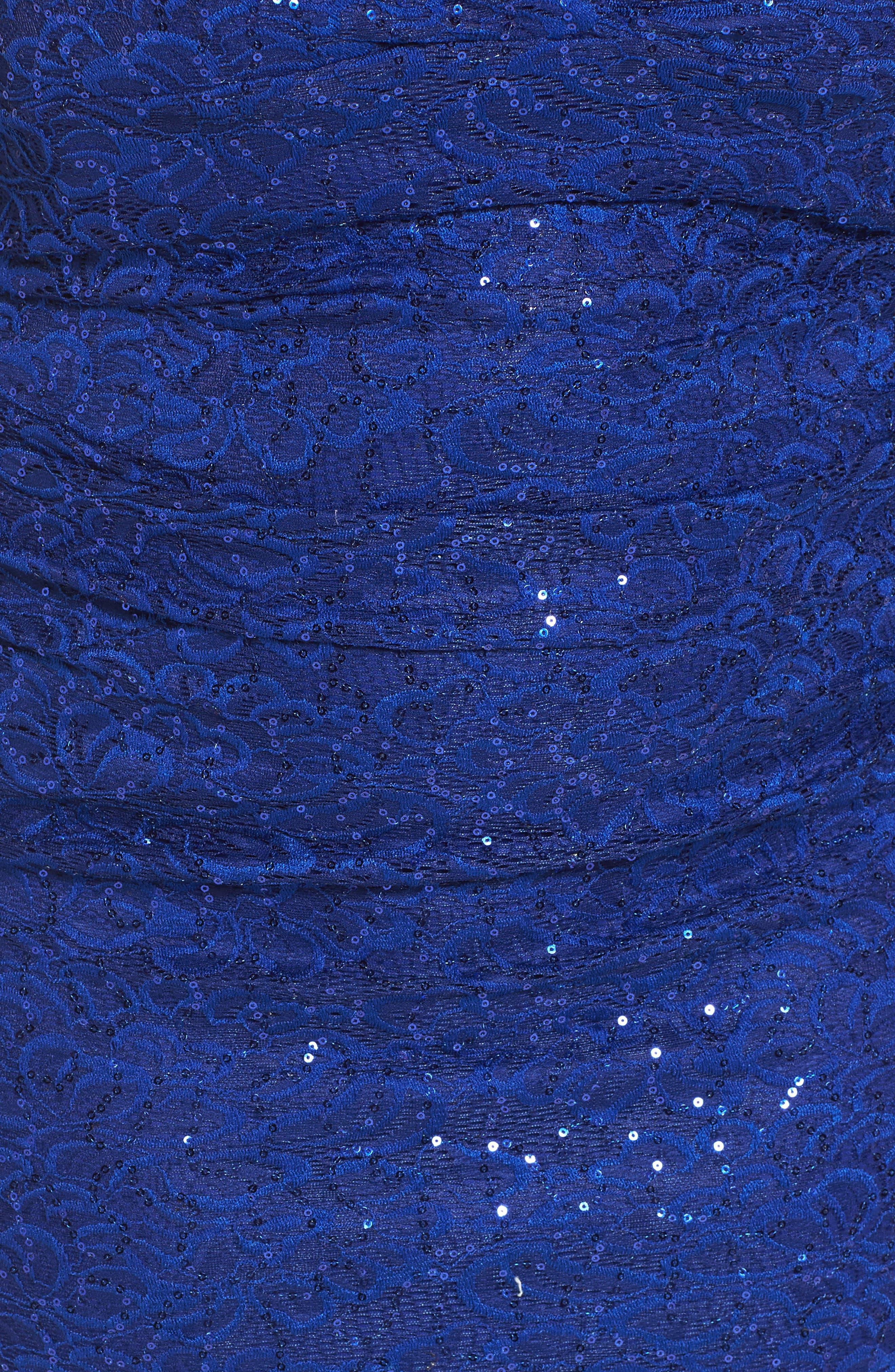 Keyhole Lace Sheath Dress,                             Alternate thumbnail 5, color,                             Royal