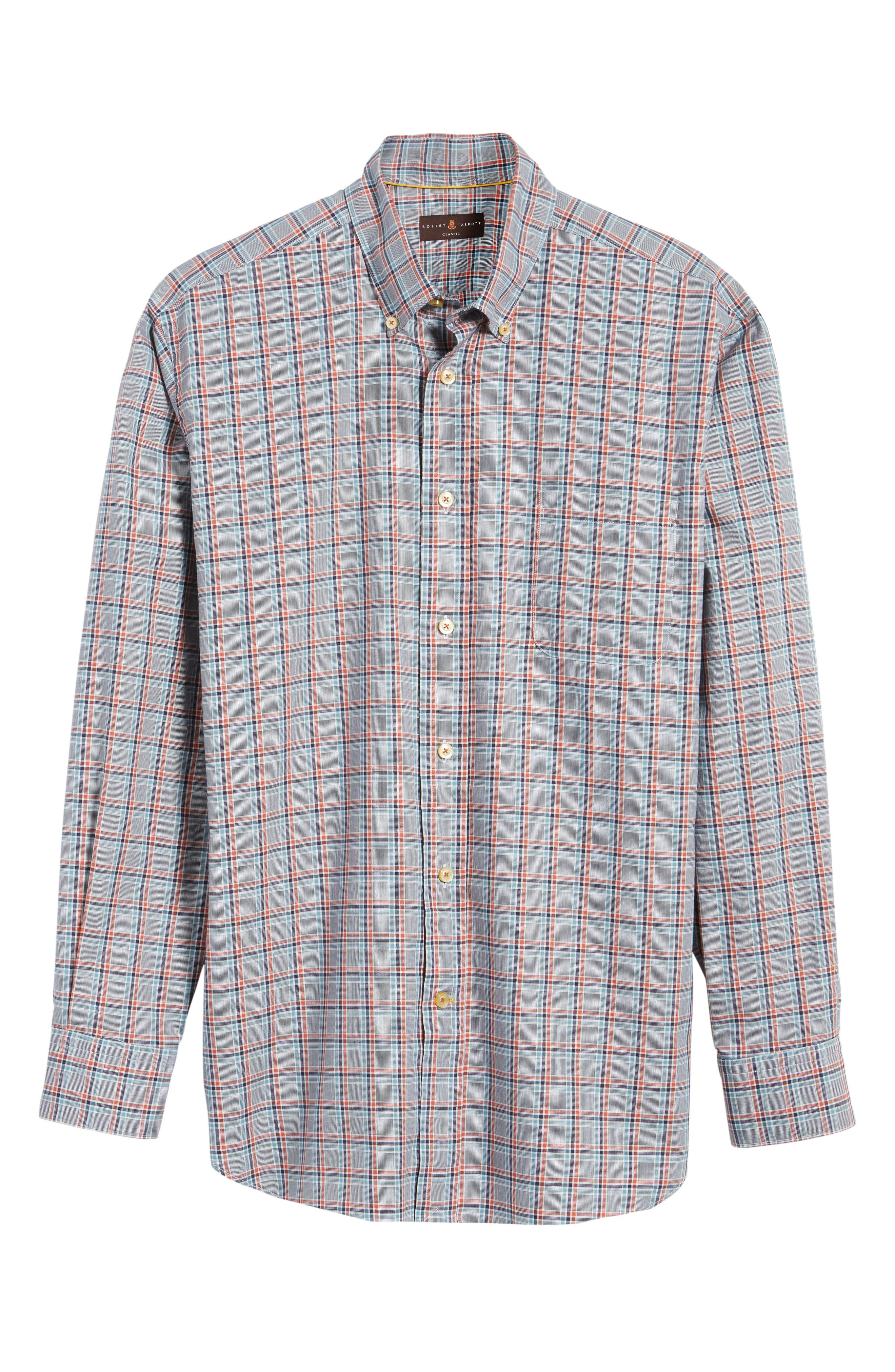 Alternate Image 6  - Robert Talbott Anderson Classic Fit Plaid Oxford Sport Shirt