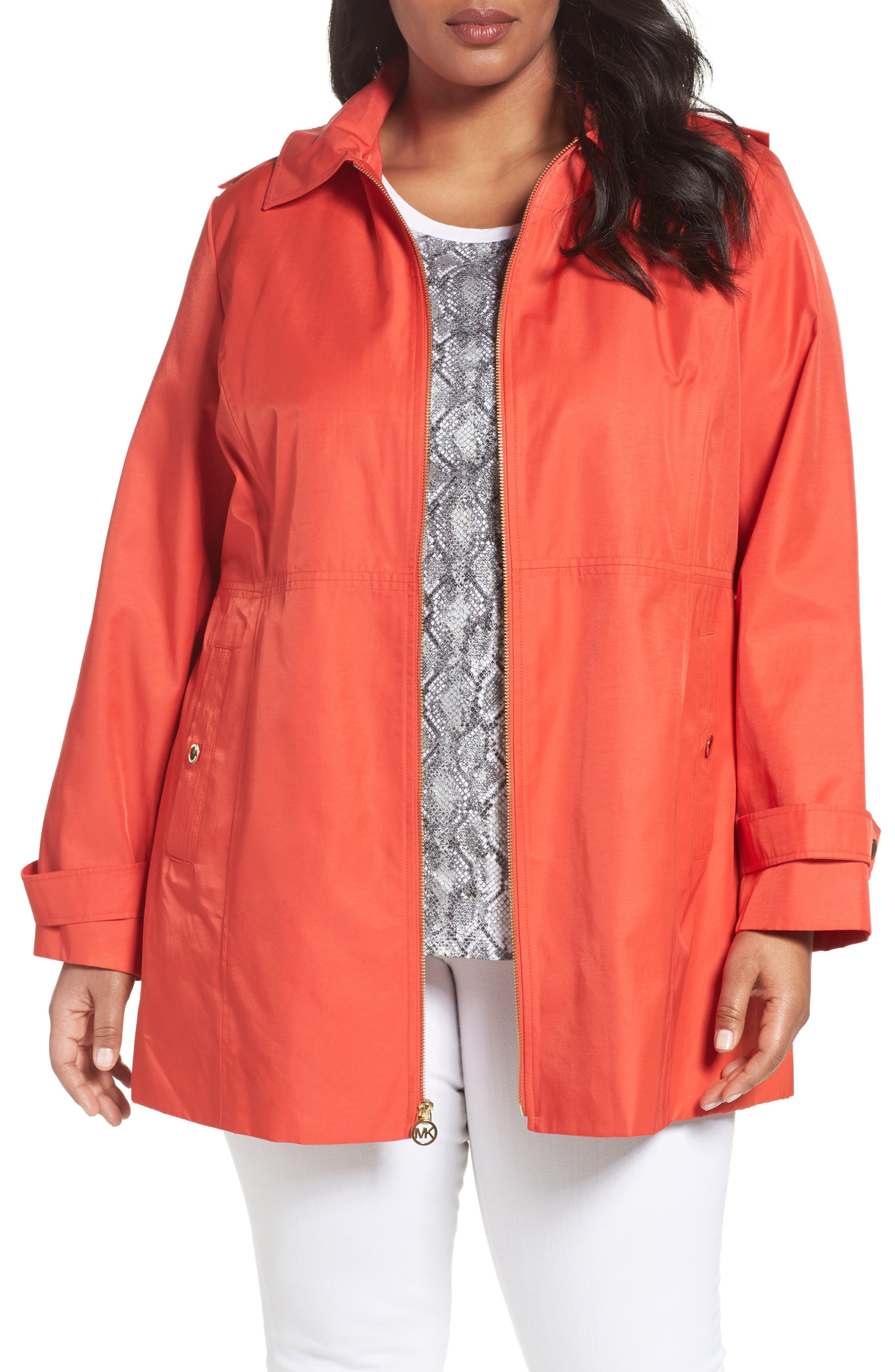 MICHAEL Michael Kors A-Line Jacket (Plus Size)