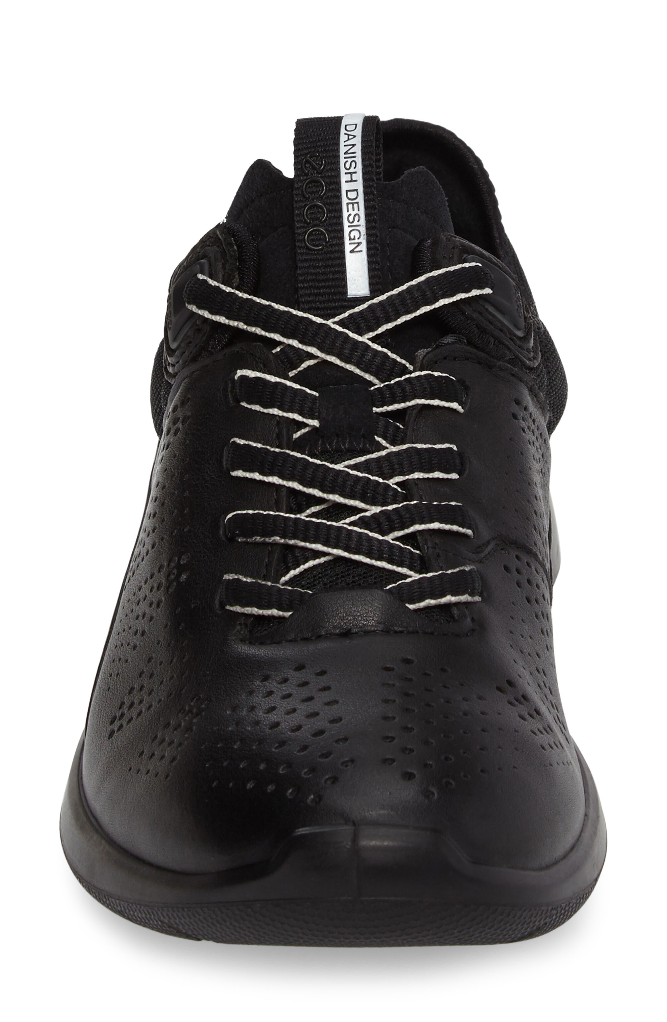 Soft 5 Sneaker,                             Alternate thumbnail 4, color,                             Black Leather