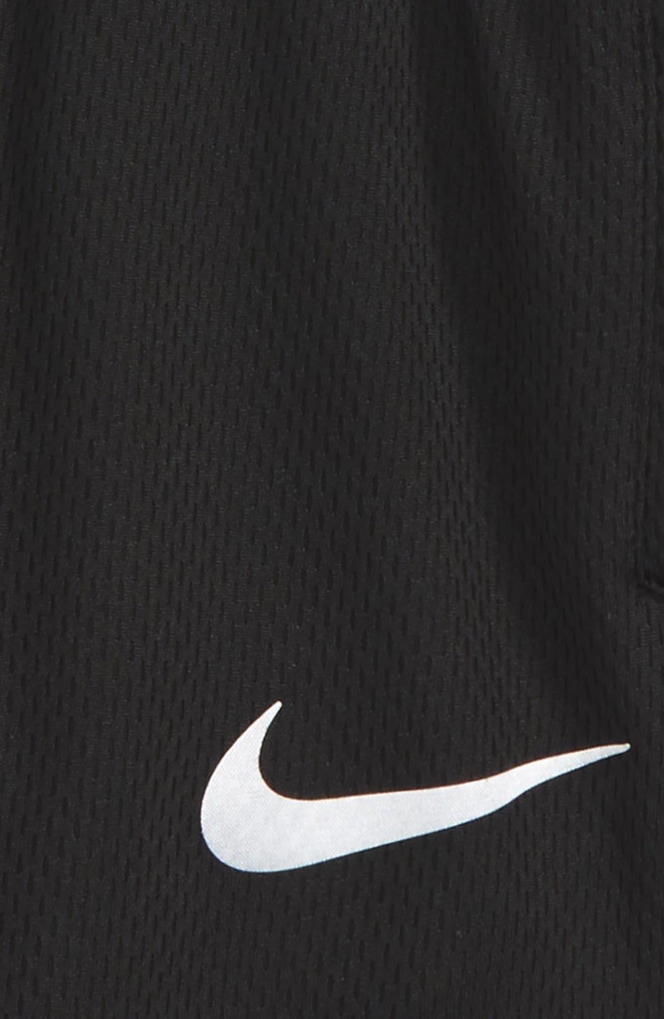 Elite Stripe Shorts,                             Alternate thumbnail 2, color,                             Black Denim