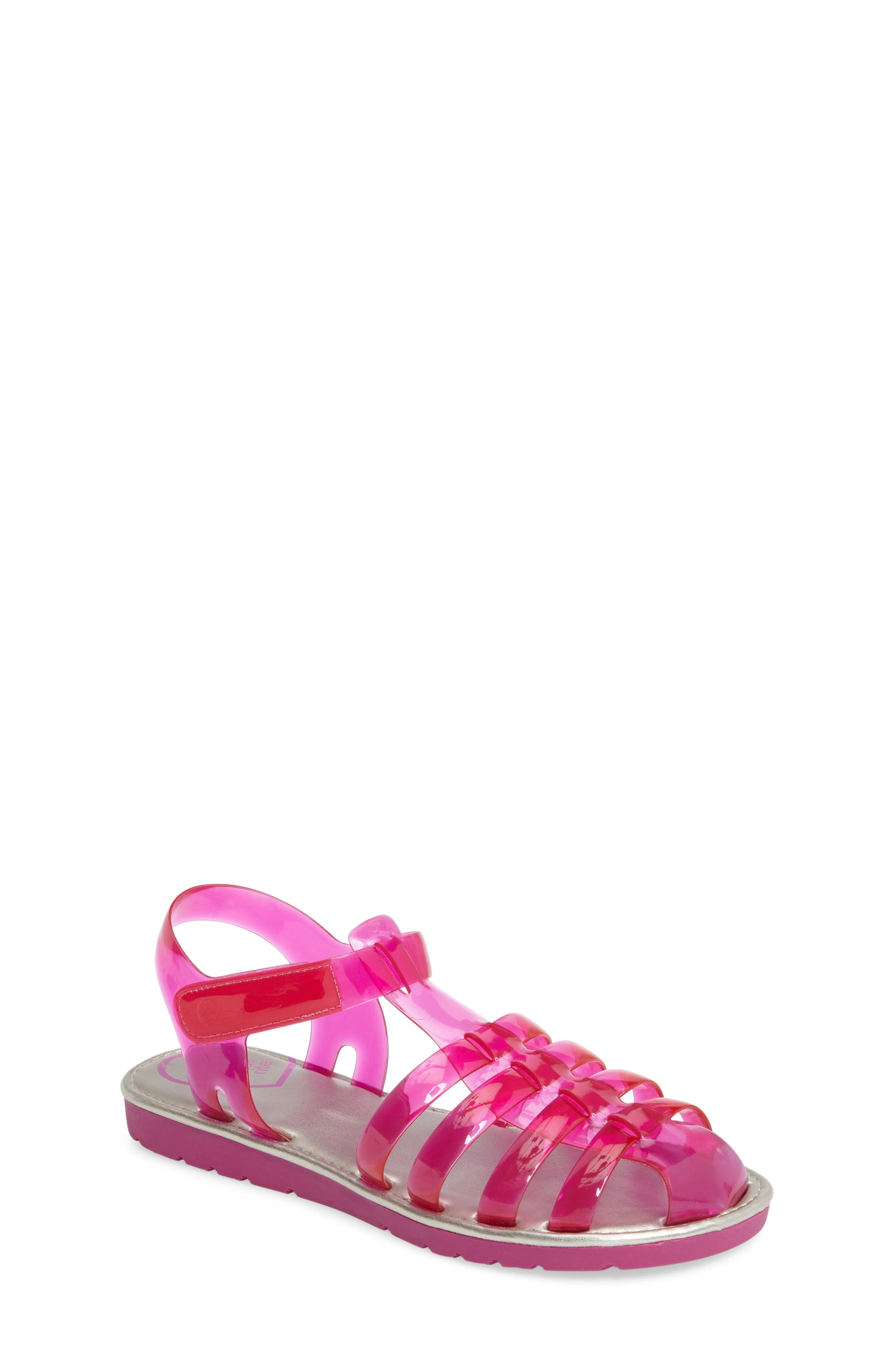Natalie Jelly Sandal,                         Main,                         color, Magenta