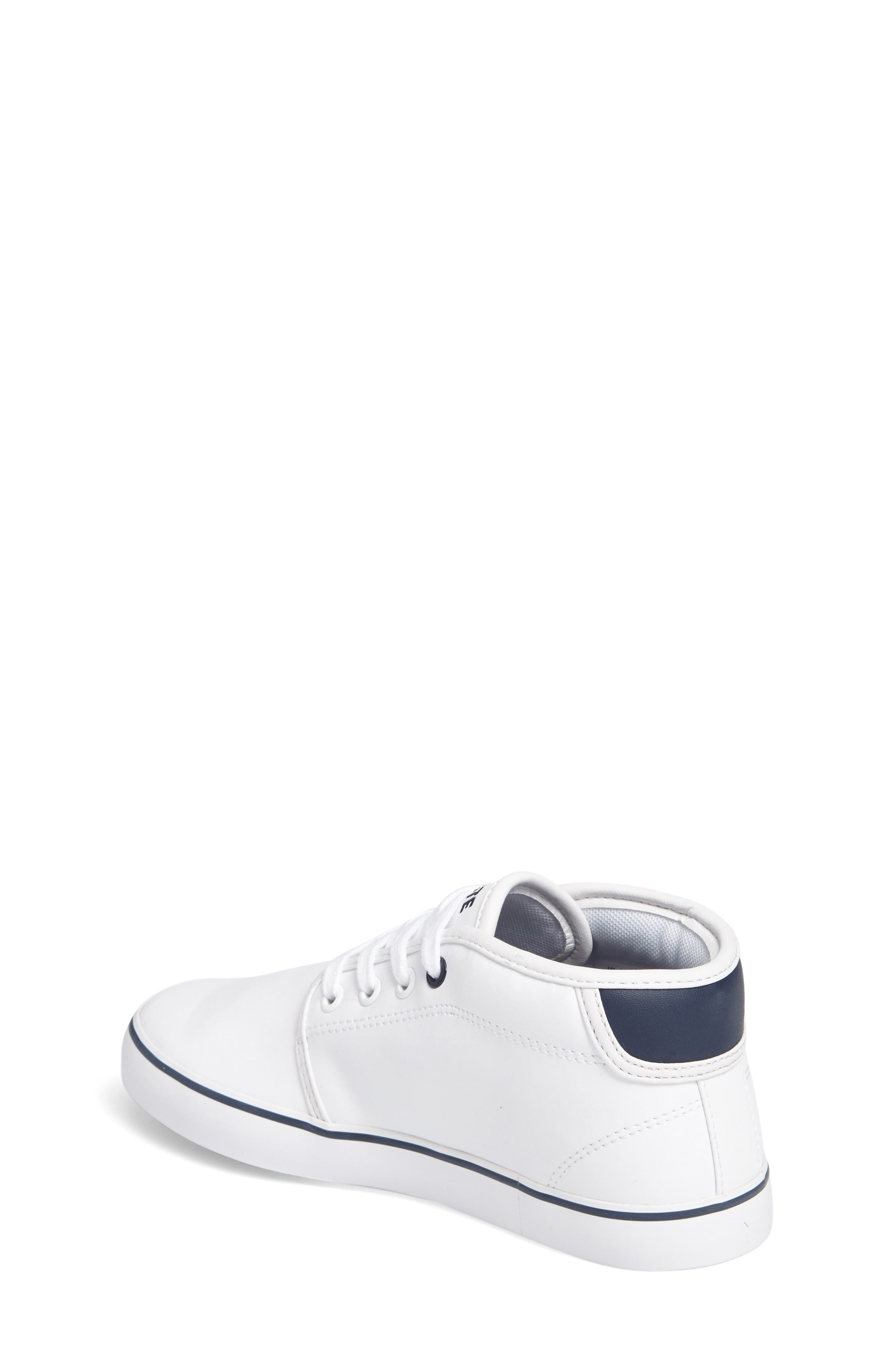 Ampthill High Top Sneaker,                             Alternate thumbnail 2, color,                             White/ Navy Faux Leather