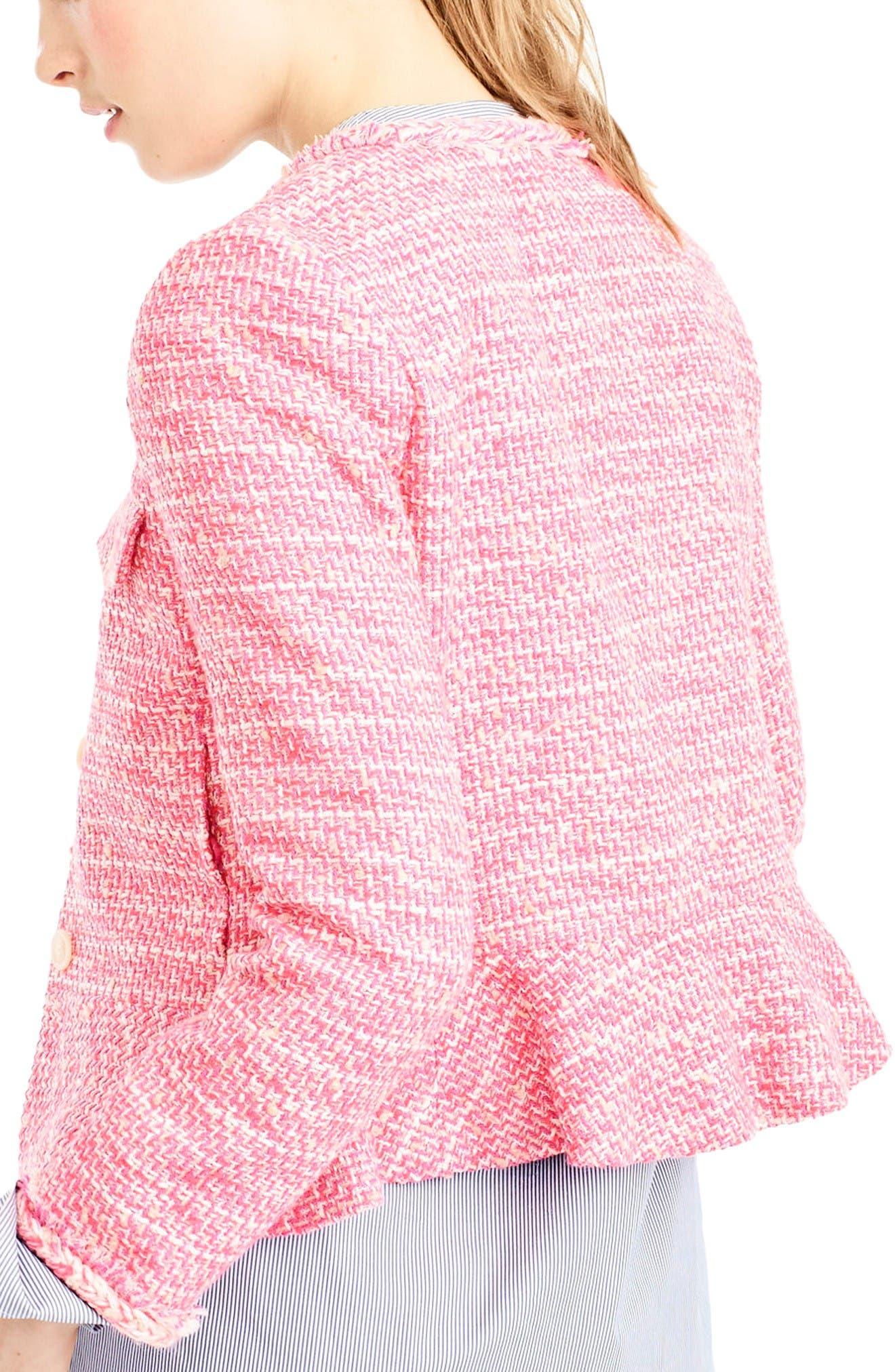 Alternate Image 2  - J.Crew Tweed Peplum Lady Jacket
