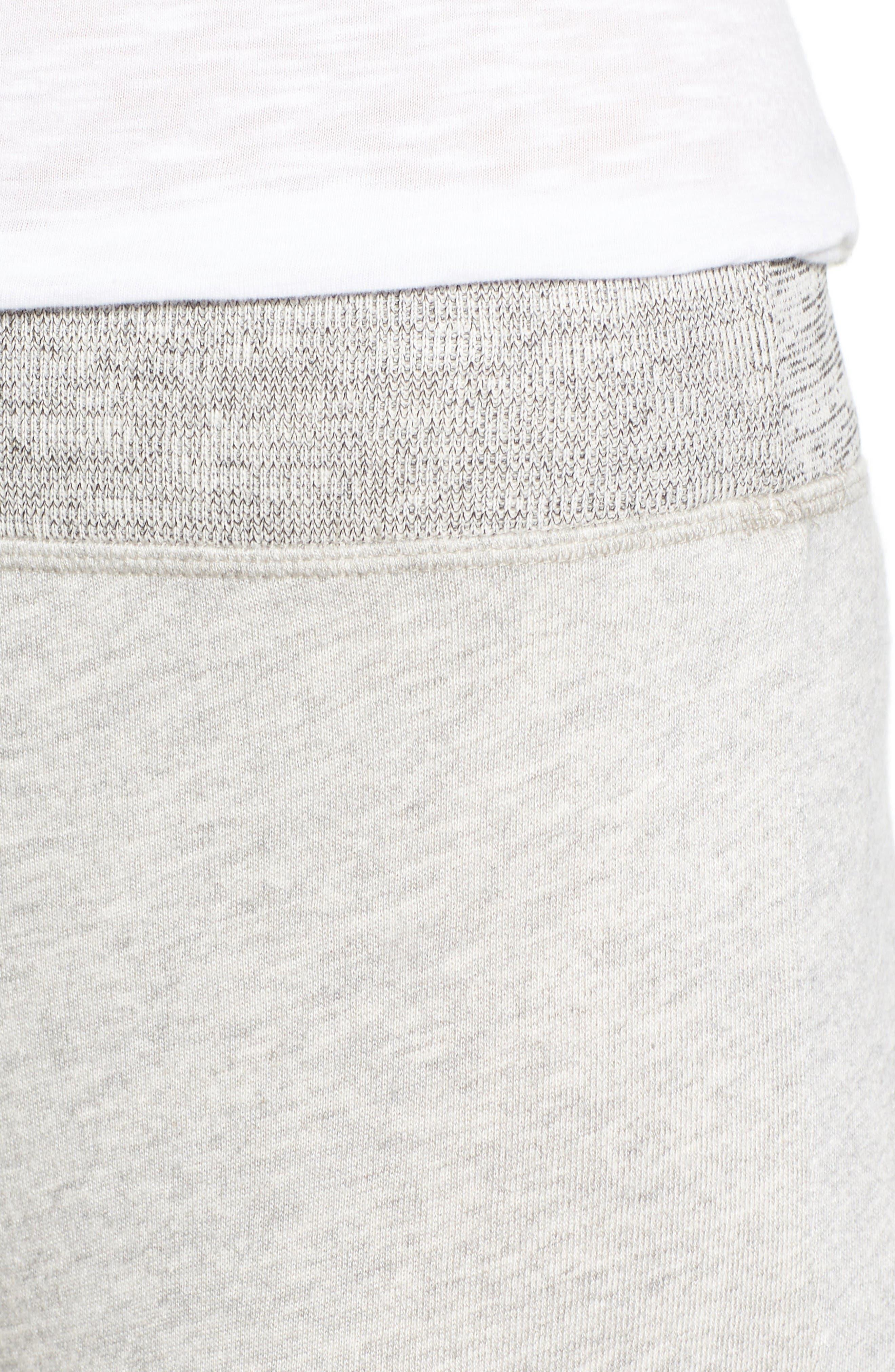Isla High Waist Crop Sweatpants,                             Alternate thumbnail 4, color,                             Heather Grey
