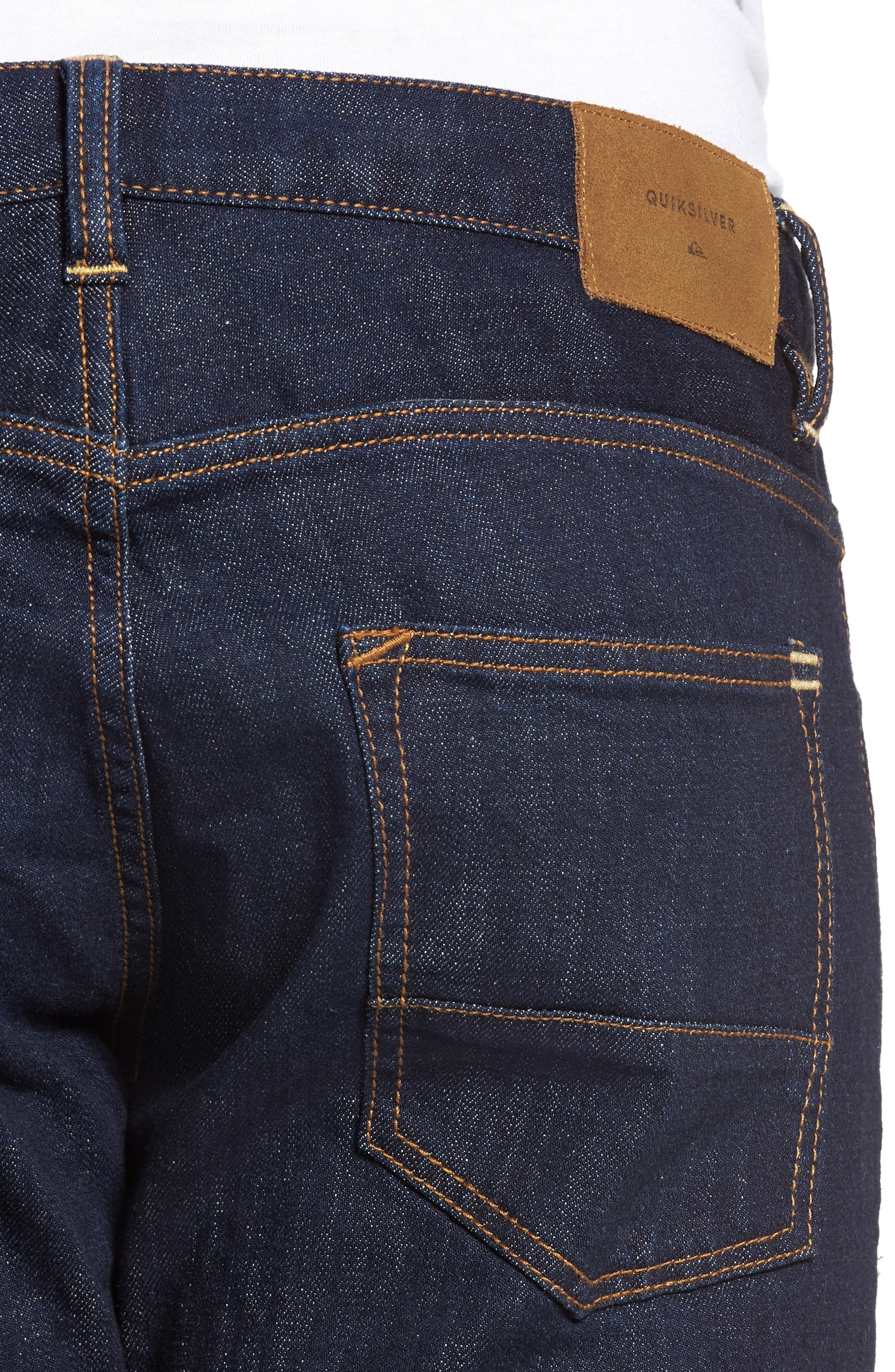 Alternate Image 4  - Quiksilver Revolver Slim Fit Jeans (Rinse)