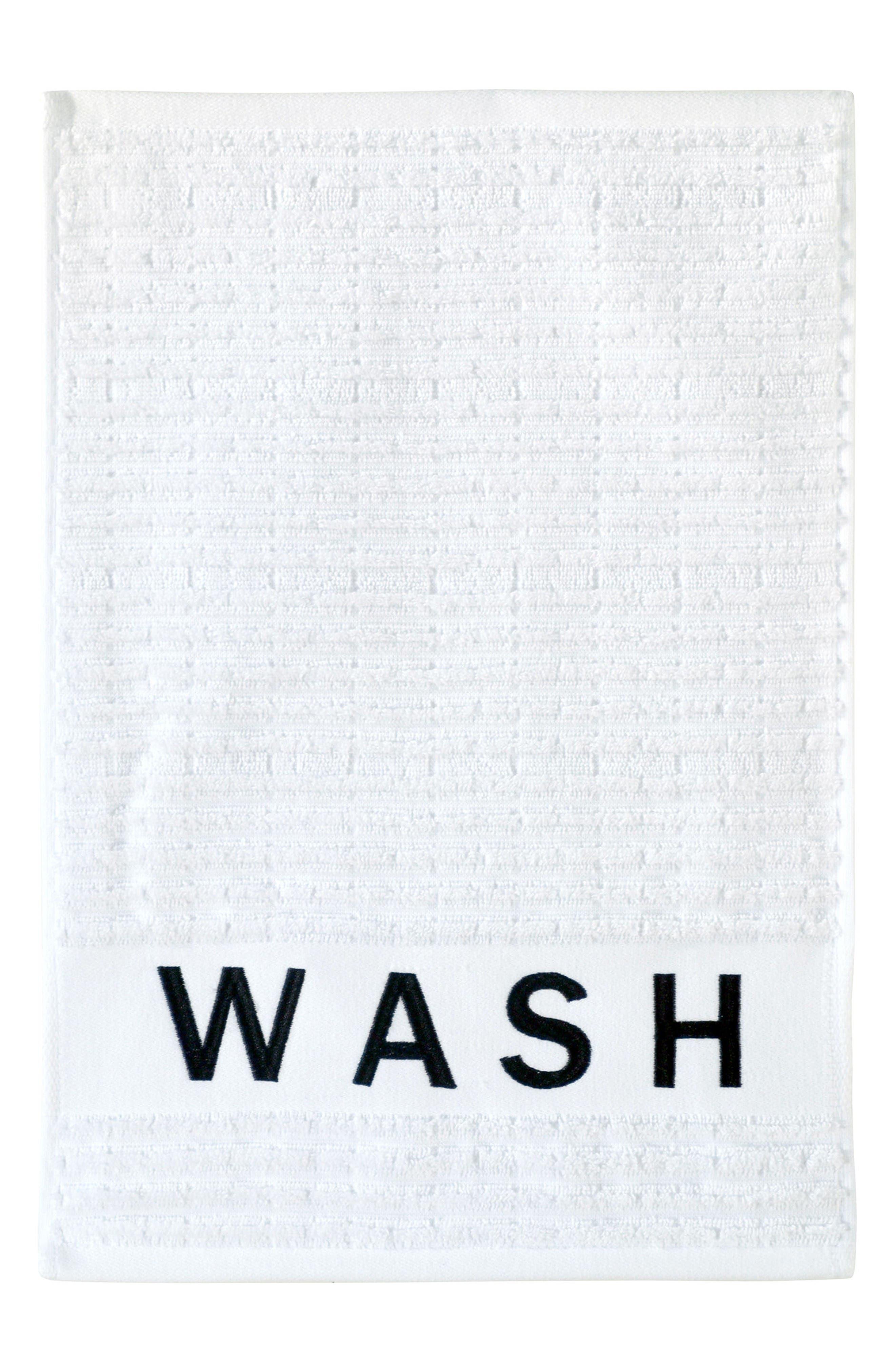 Chatter Fingertip Towel,                         Main,                         color, White