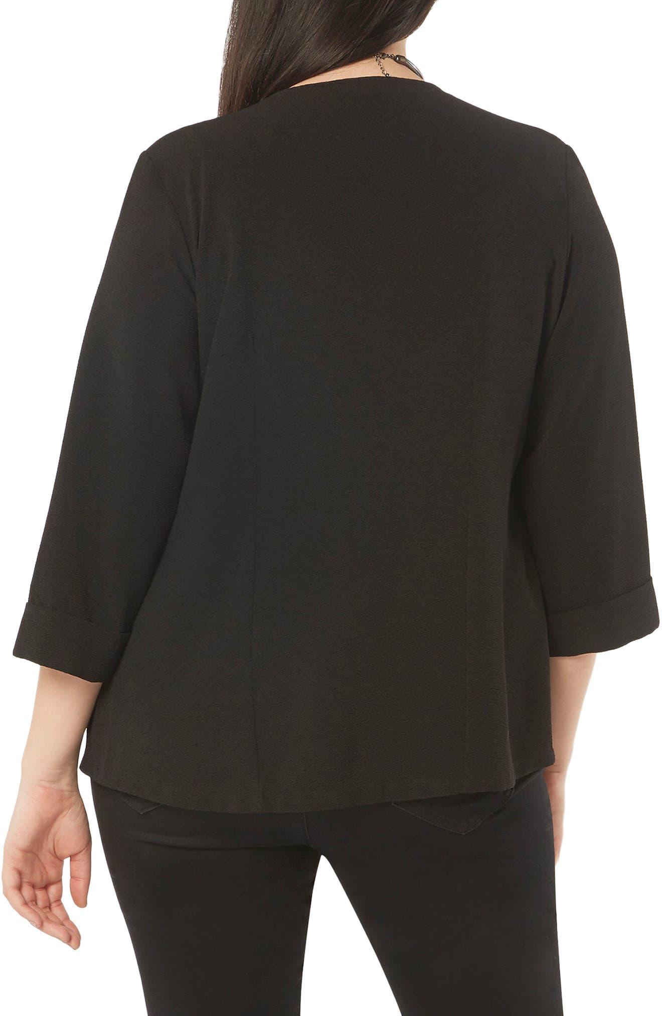 Alternate Image 2  - Evans Crepe Panel Jacket (Plus Size)