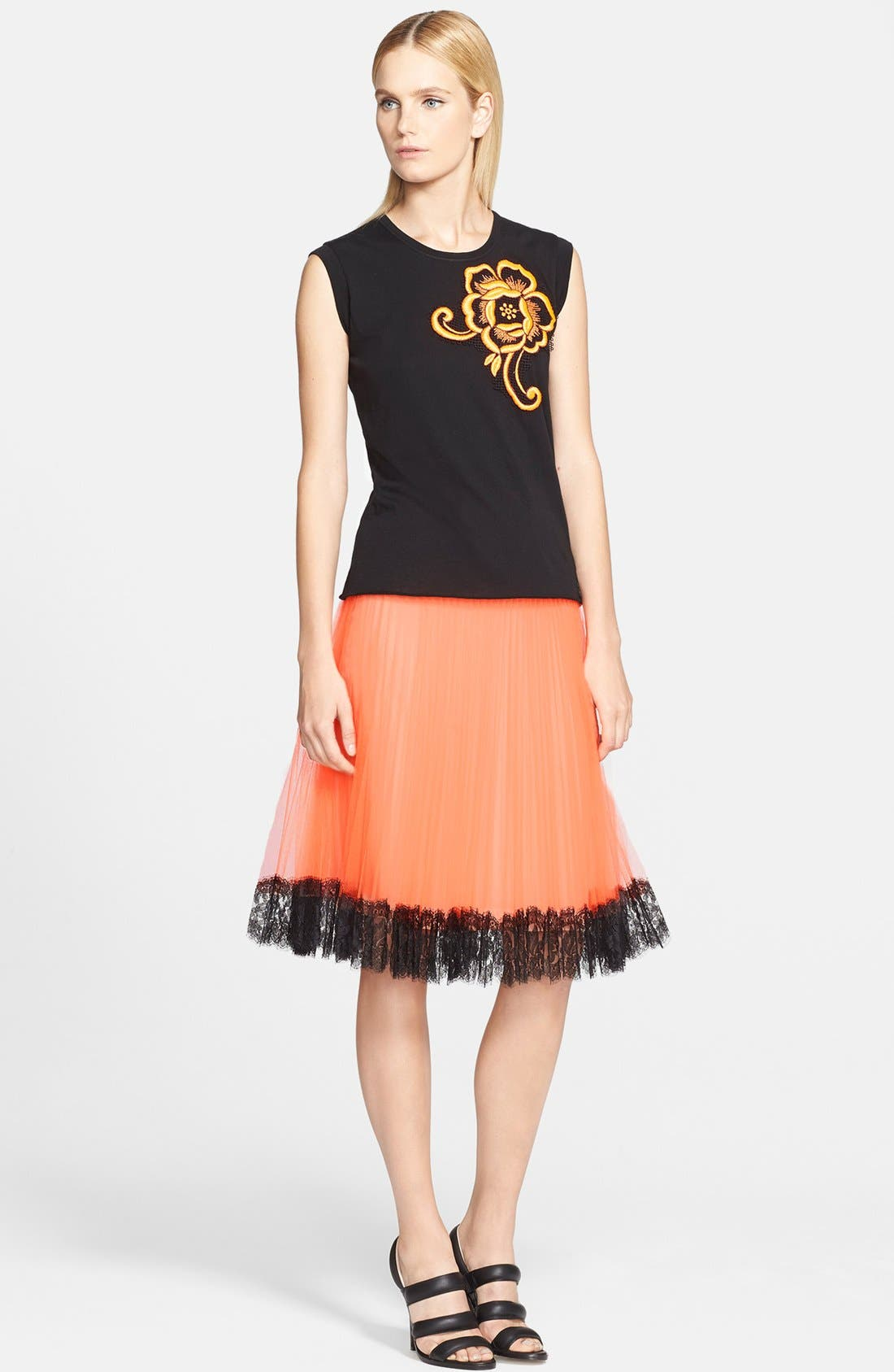 Alternate Image 3  - Christopher Kane Lace Trim Pleated Tulle Skirt