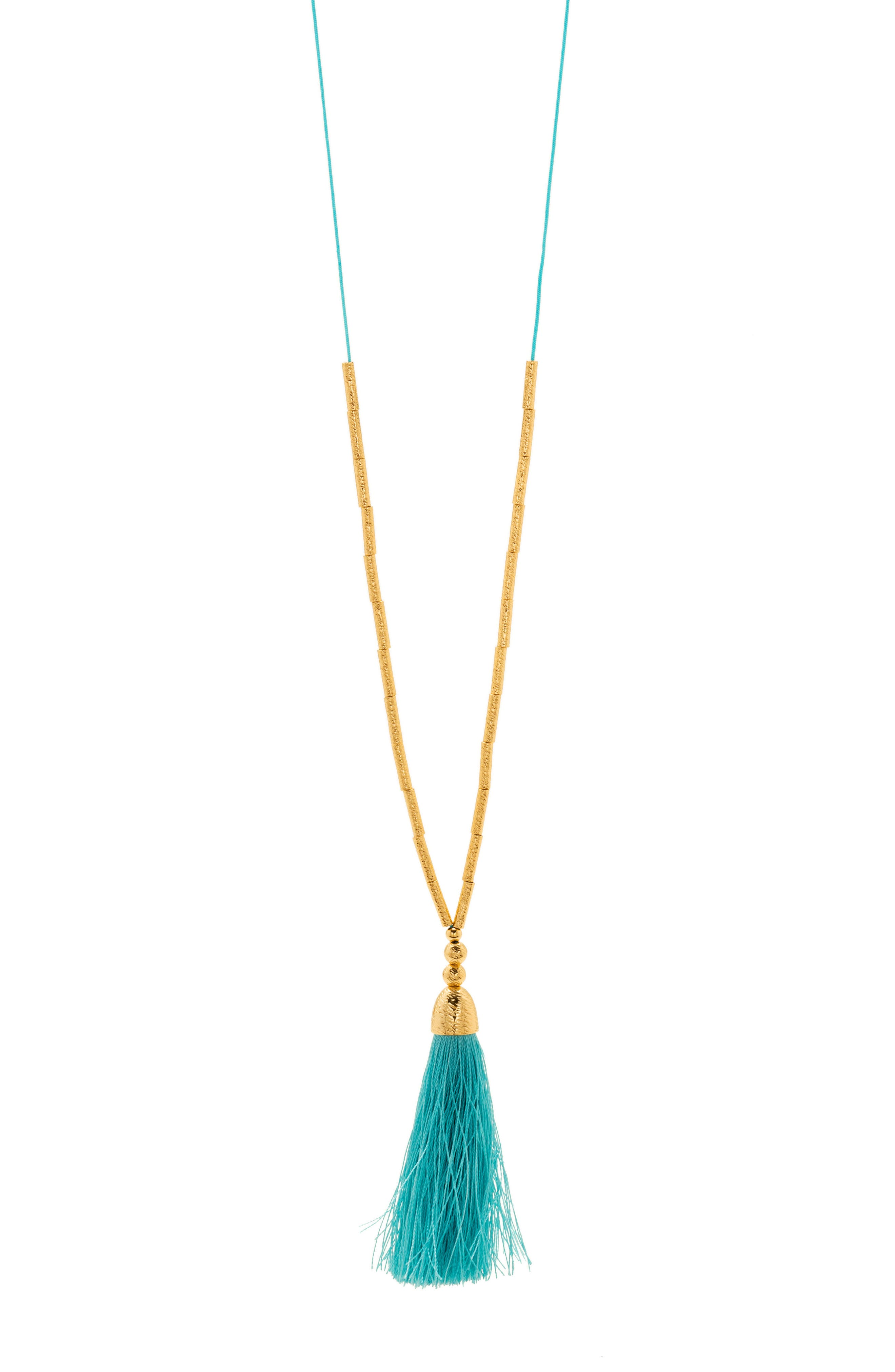 Alternate Image 2  - gorjana Tulum Long Tassel Pendant Necklace
