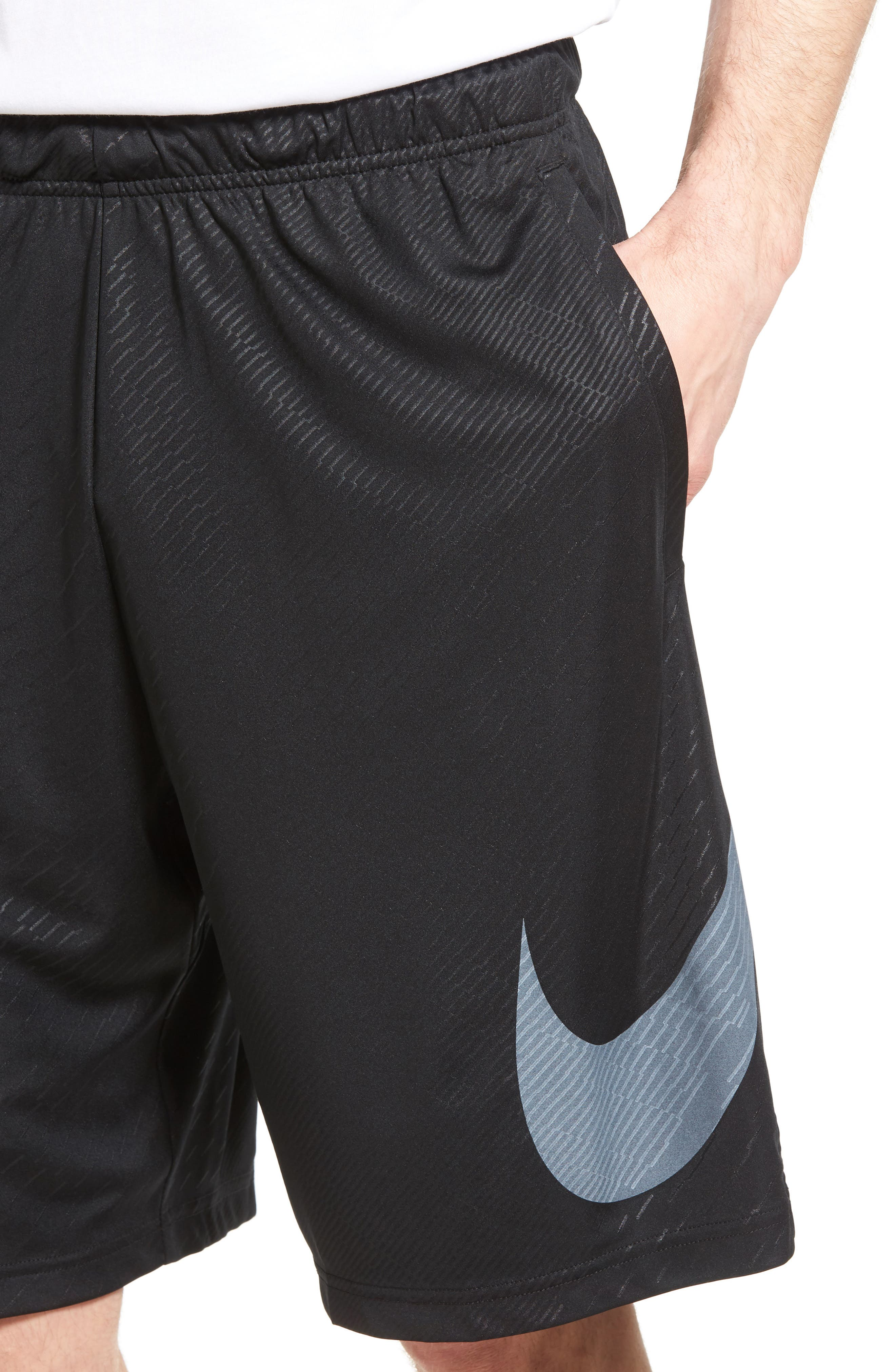 Dry Training Shorts,                             Alternate thumbnail 4, color,                             Black/ White