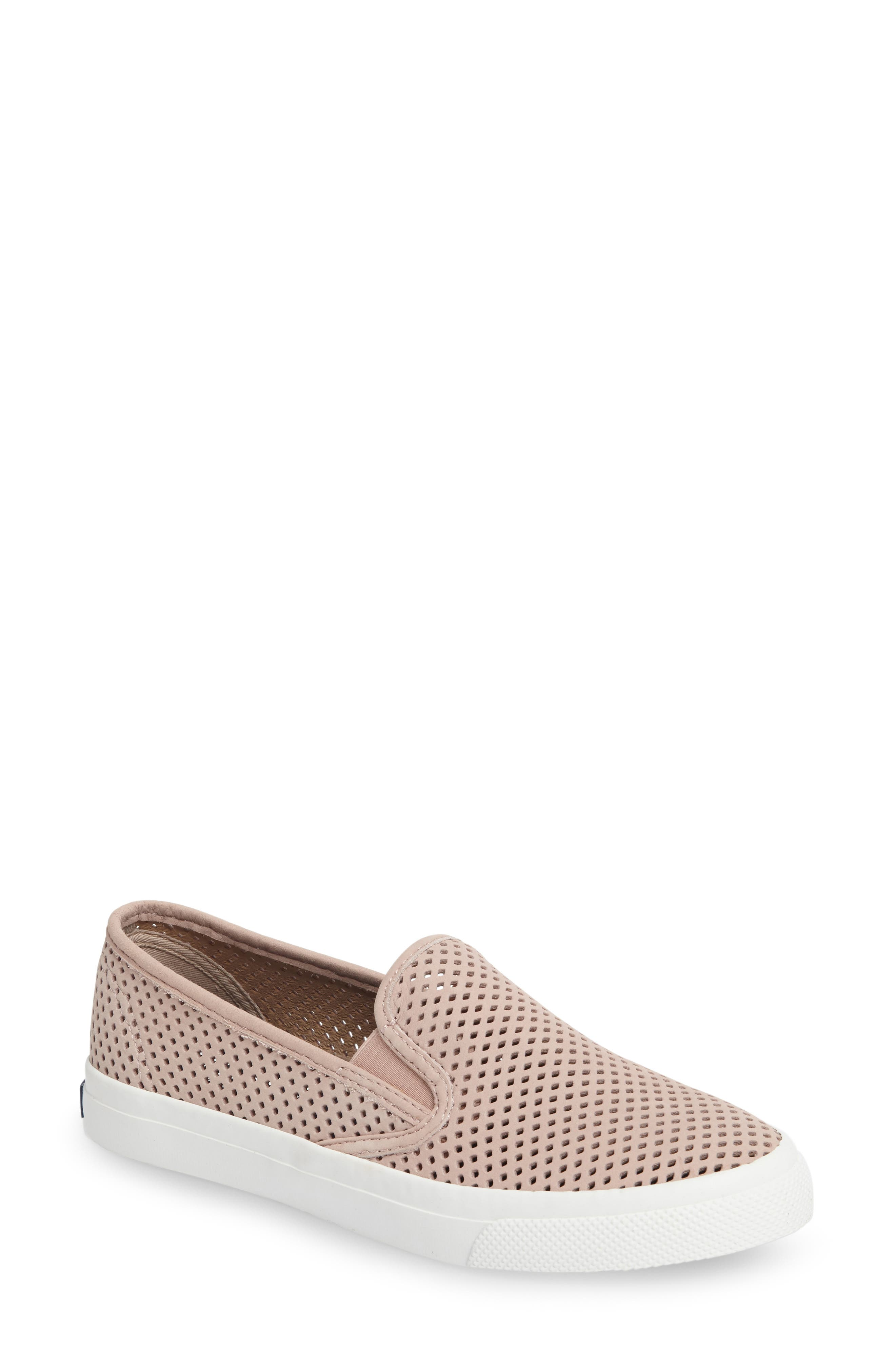 Sperry 'Seaside' Perforated Slip-On Sneaker (Women)