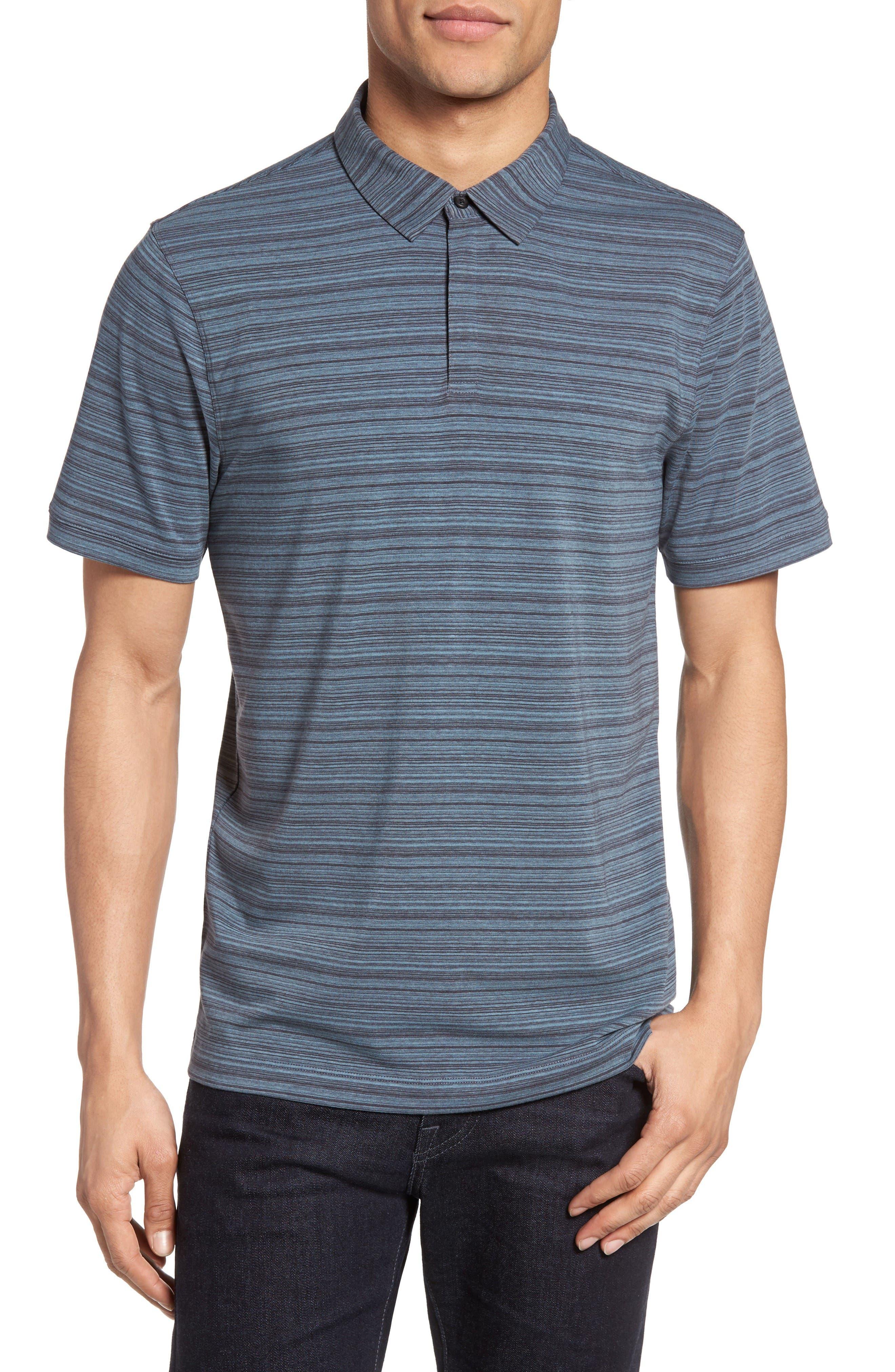 Trim Fit Stripe Polo,                         Main,                         color, Blue Dusk Varied Stripe