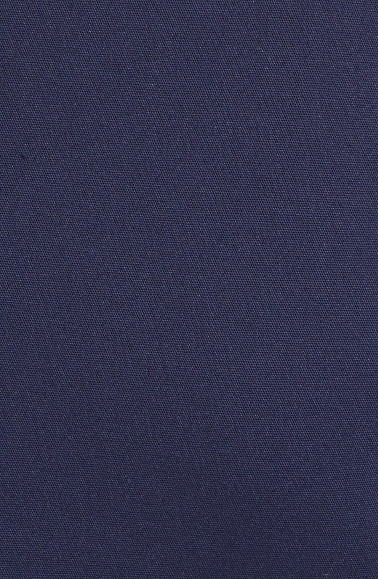 Cotton Blend Sheath Dress,                             Alternate thumbnail 3, color,                             Navy