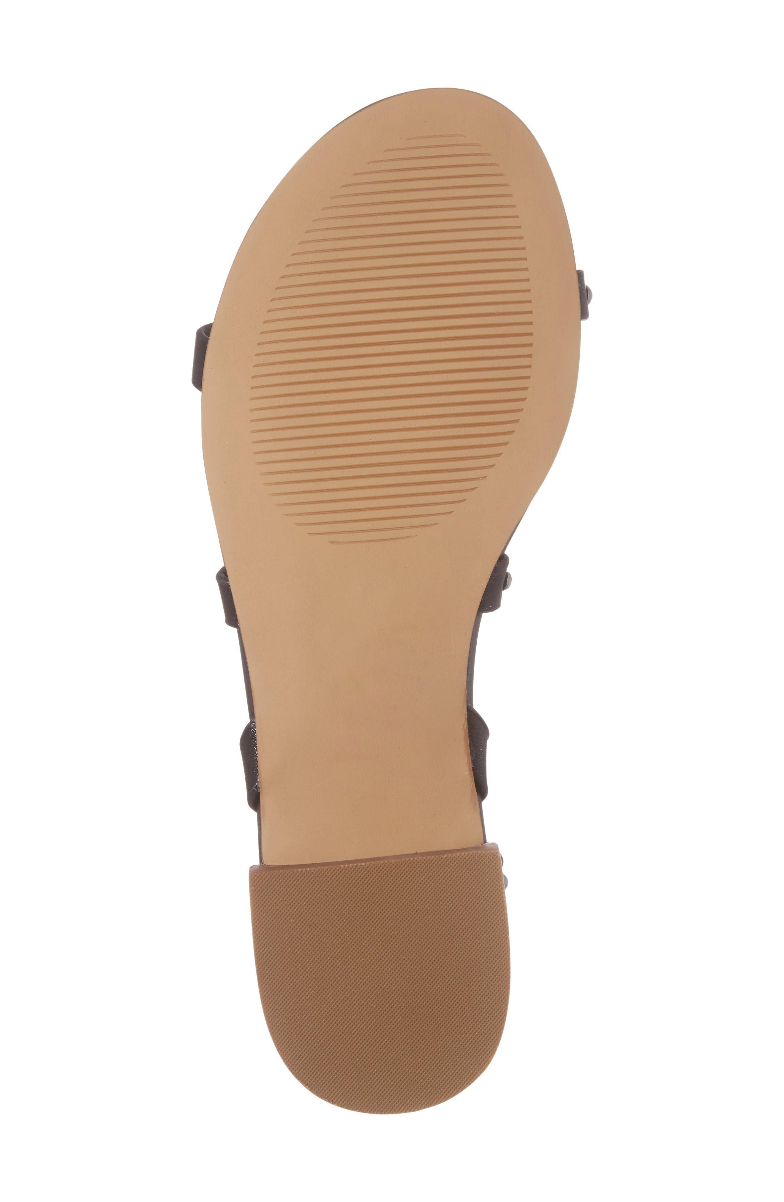Celine Sandal,                             Alternate thumbnail 6, color,                             Black Leather